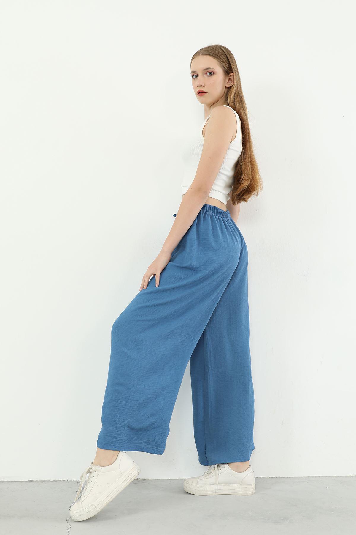 Salaş Bol Pantolon-İndigo