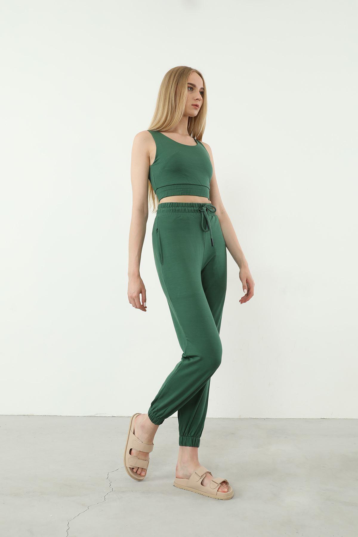 Askılı Eşofman Takım-Yeşil