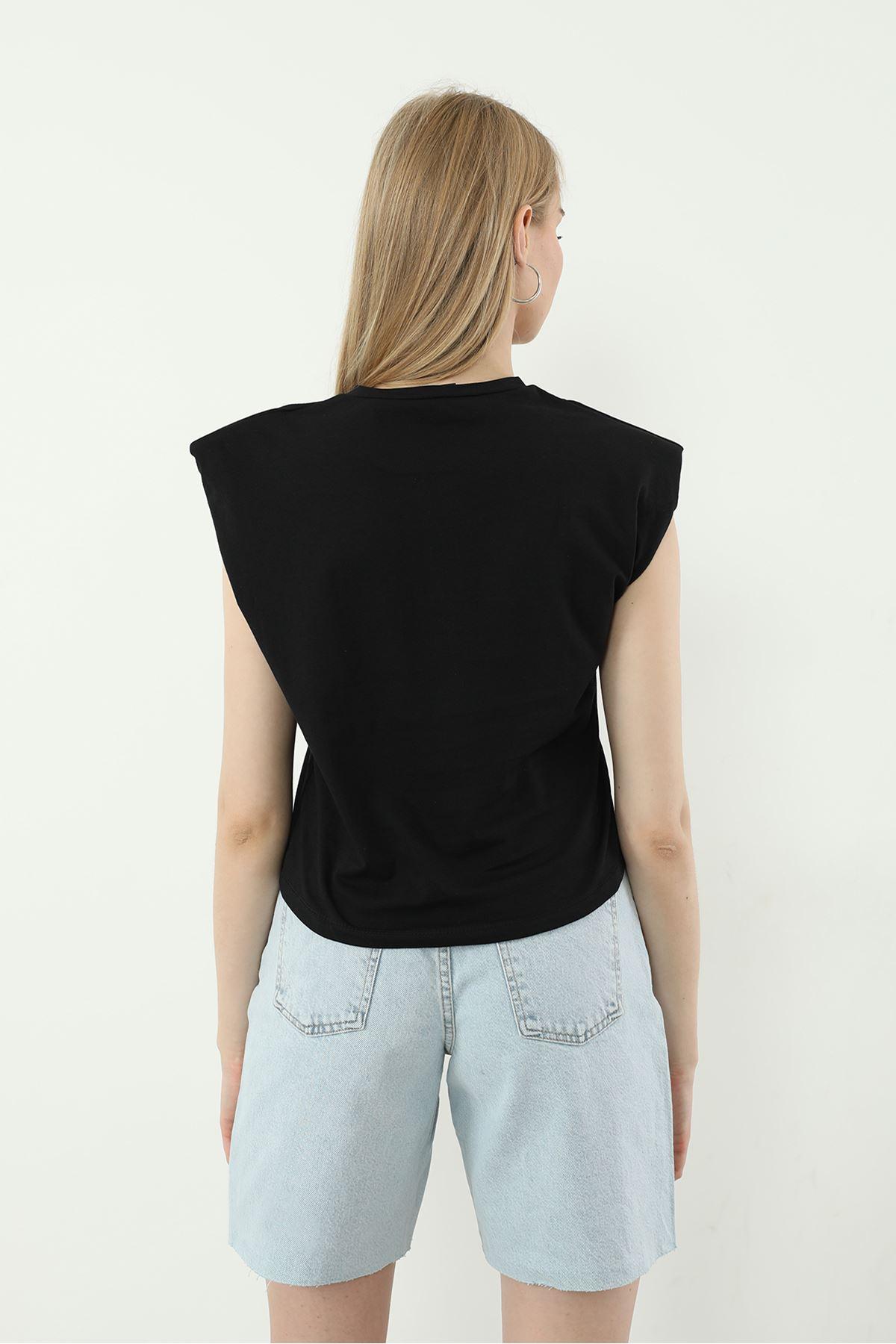 Harvard Baskılı T-shirt-Siyah