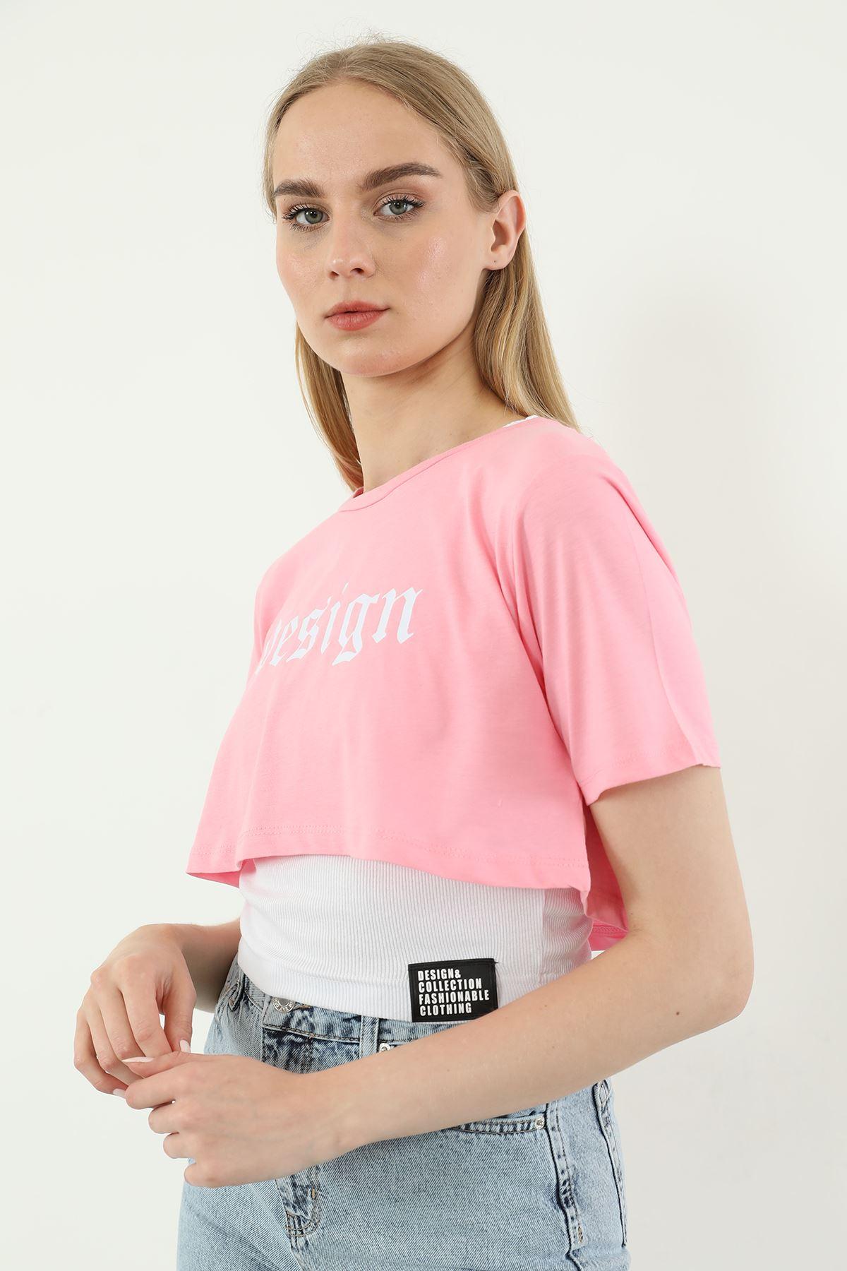 İkili Tshirt Takım-Pembe