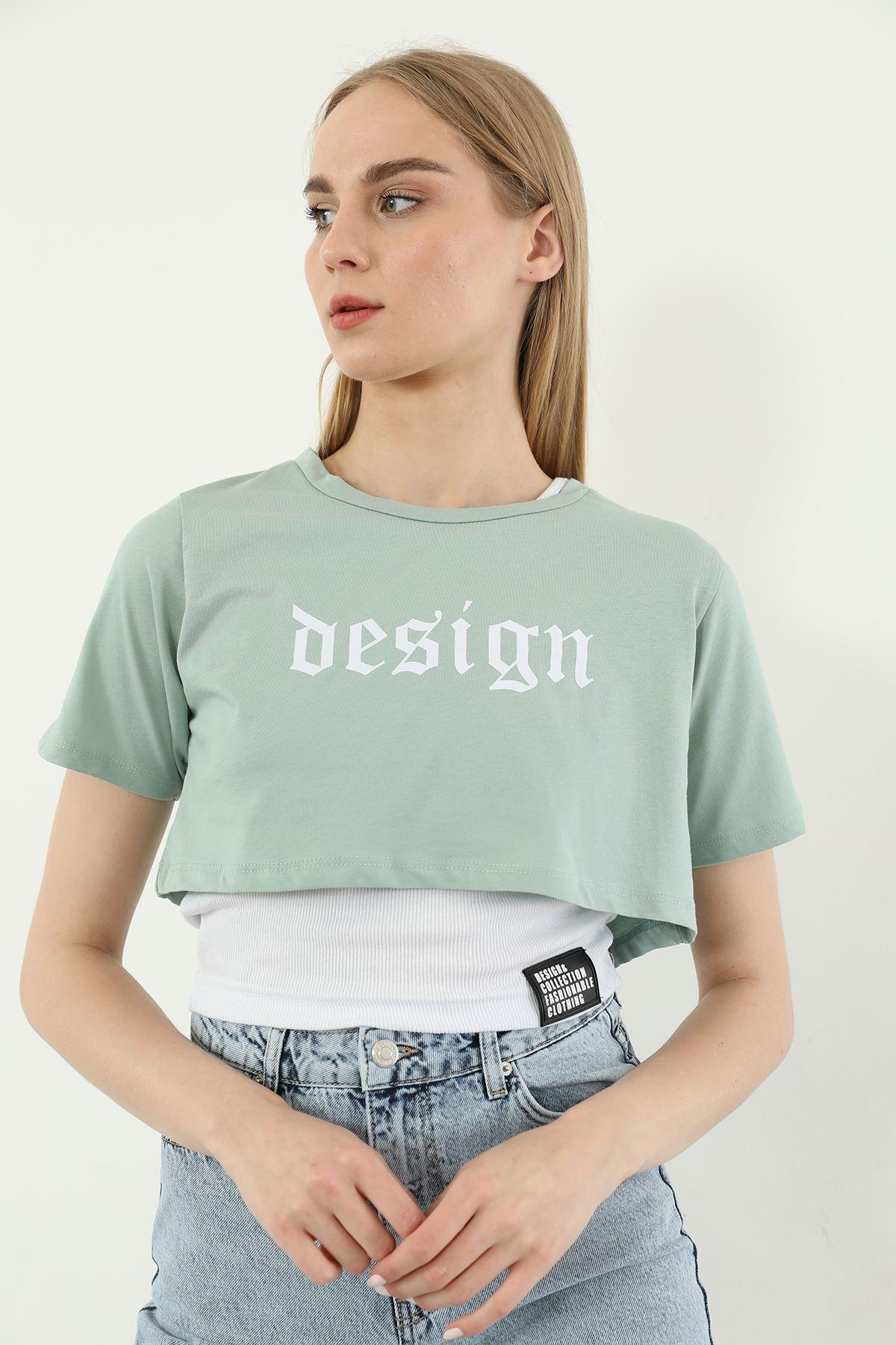 İkili Tshirt Takım-Mint