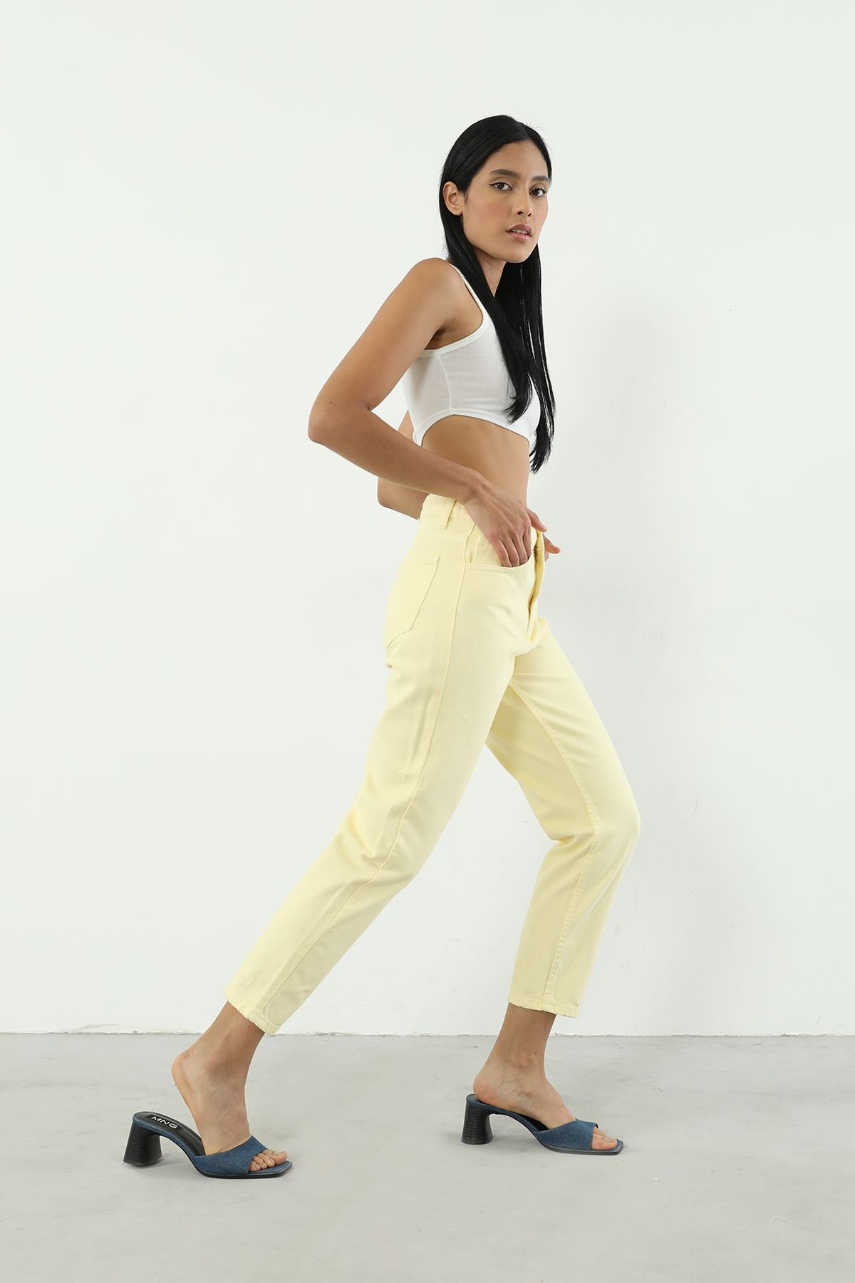 Jean Pantolon-Sarı