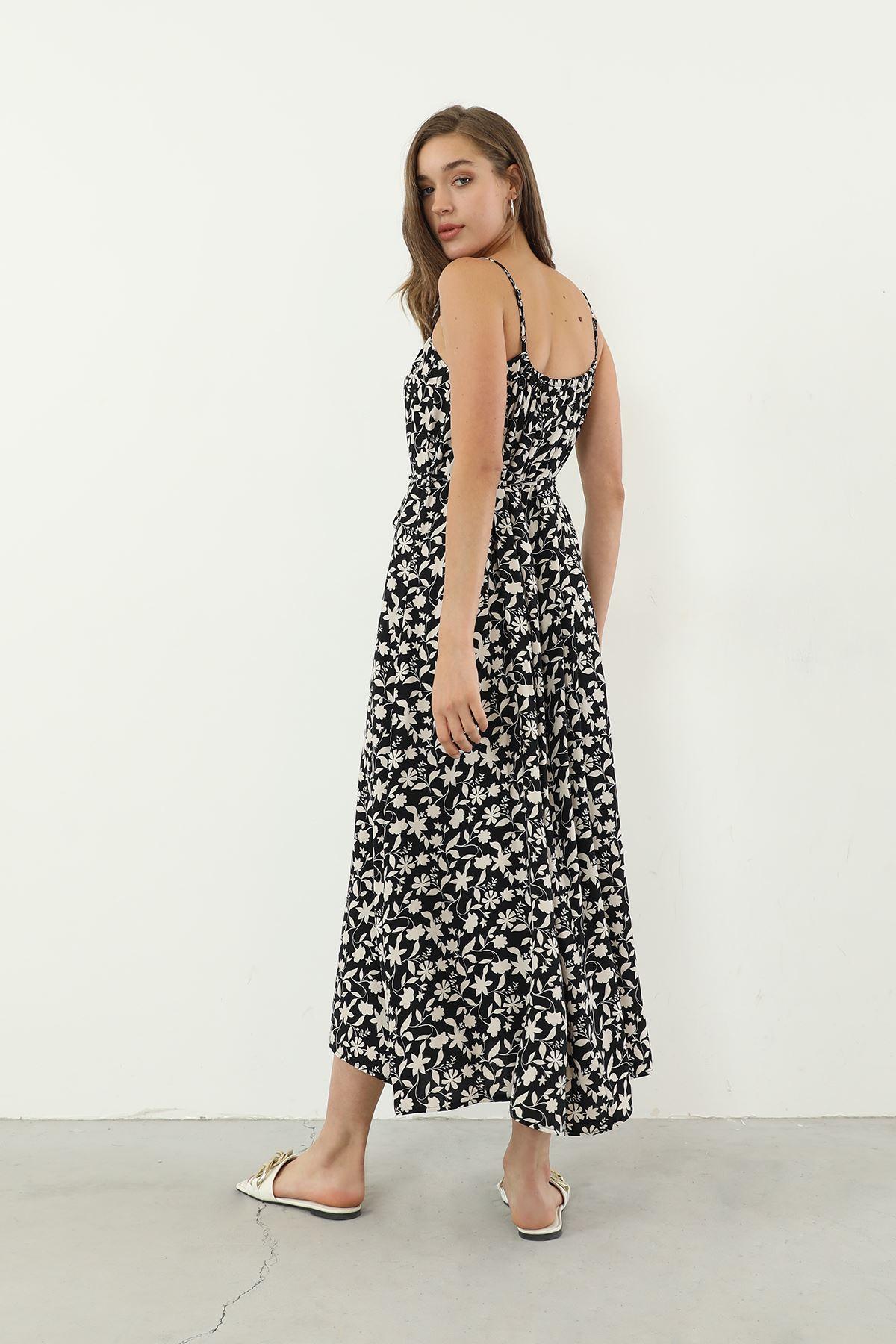 Askılı Elbise-Siyah