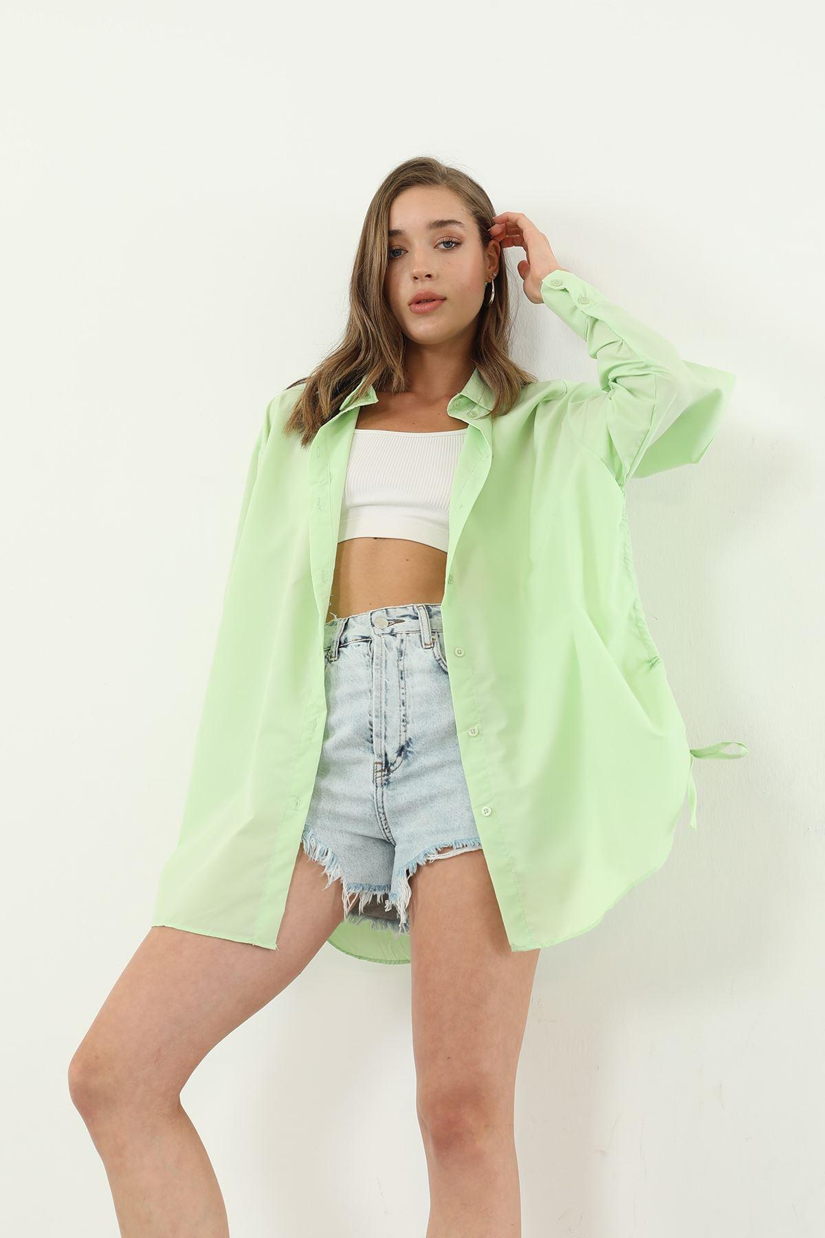 Bağlamalı Gömlek-Yeşil