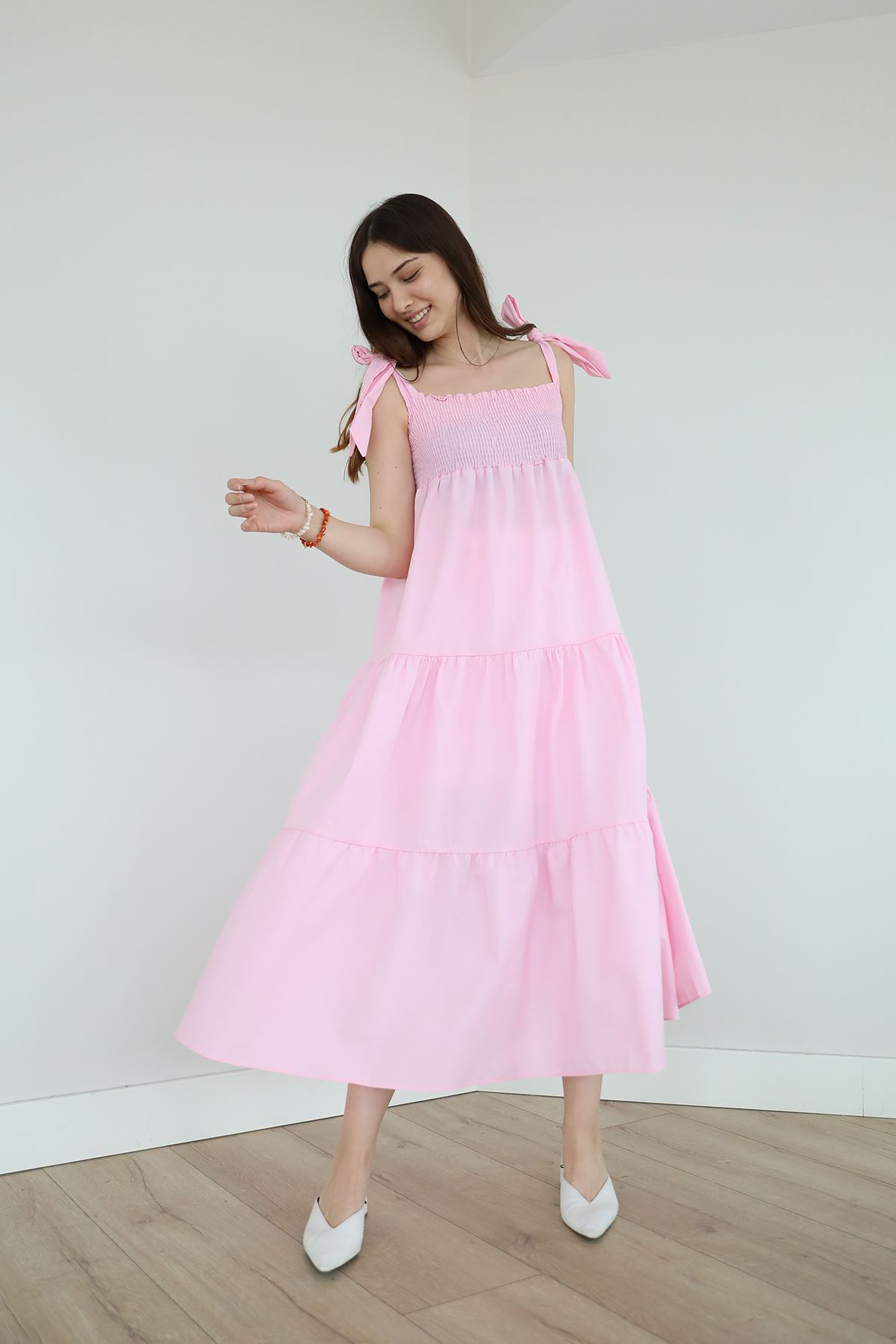 Gipeli Elbise-Pembe