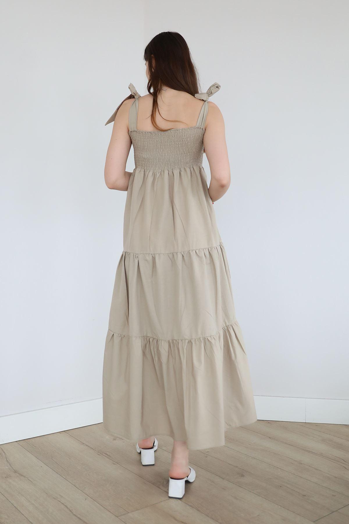 Gipeli Elbise-Bej