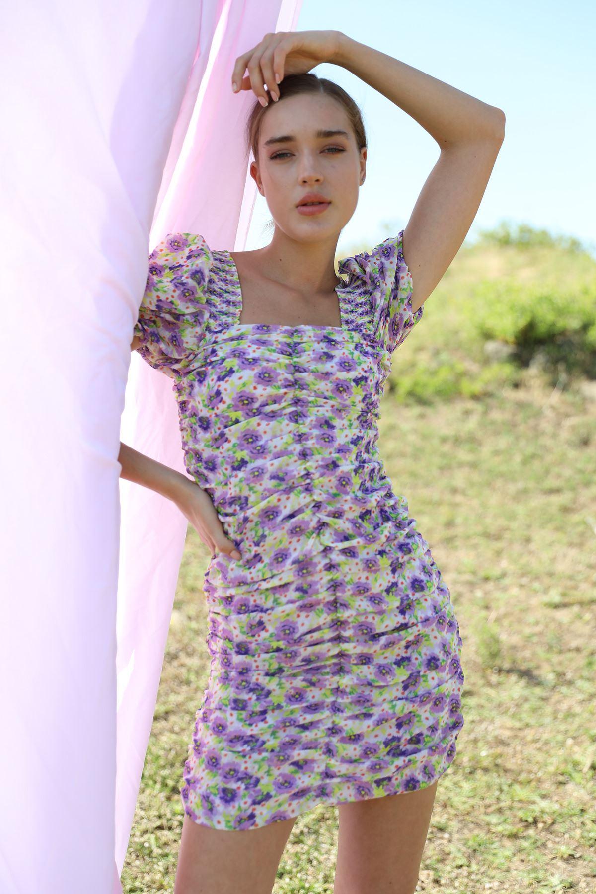 Gipeli Elbise-Lila