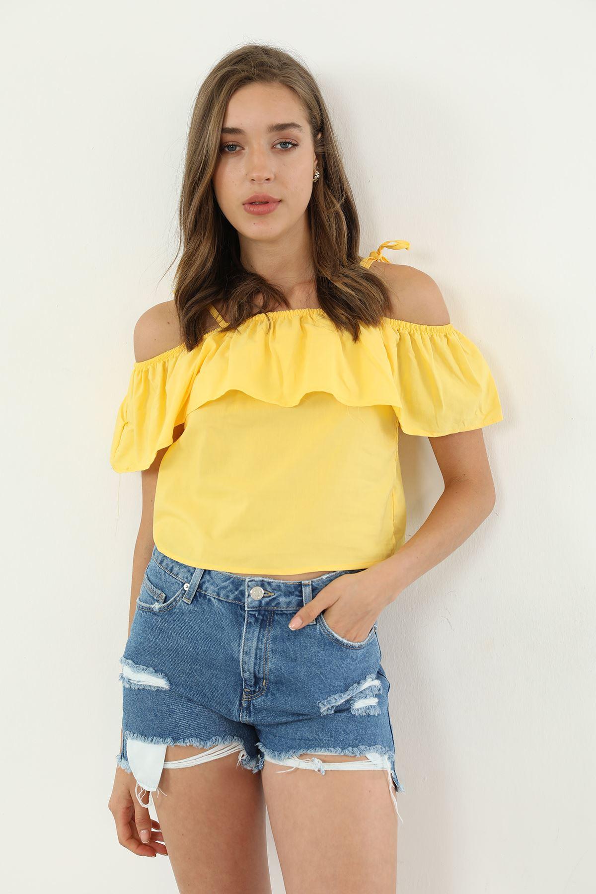 Askılı Bluz-Sarı