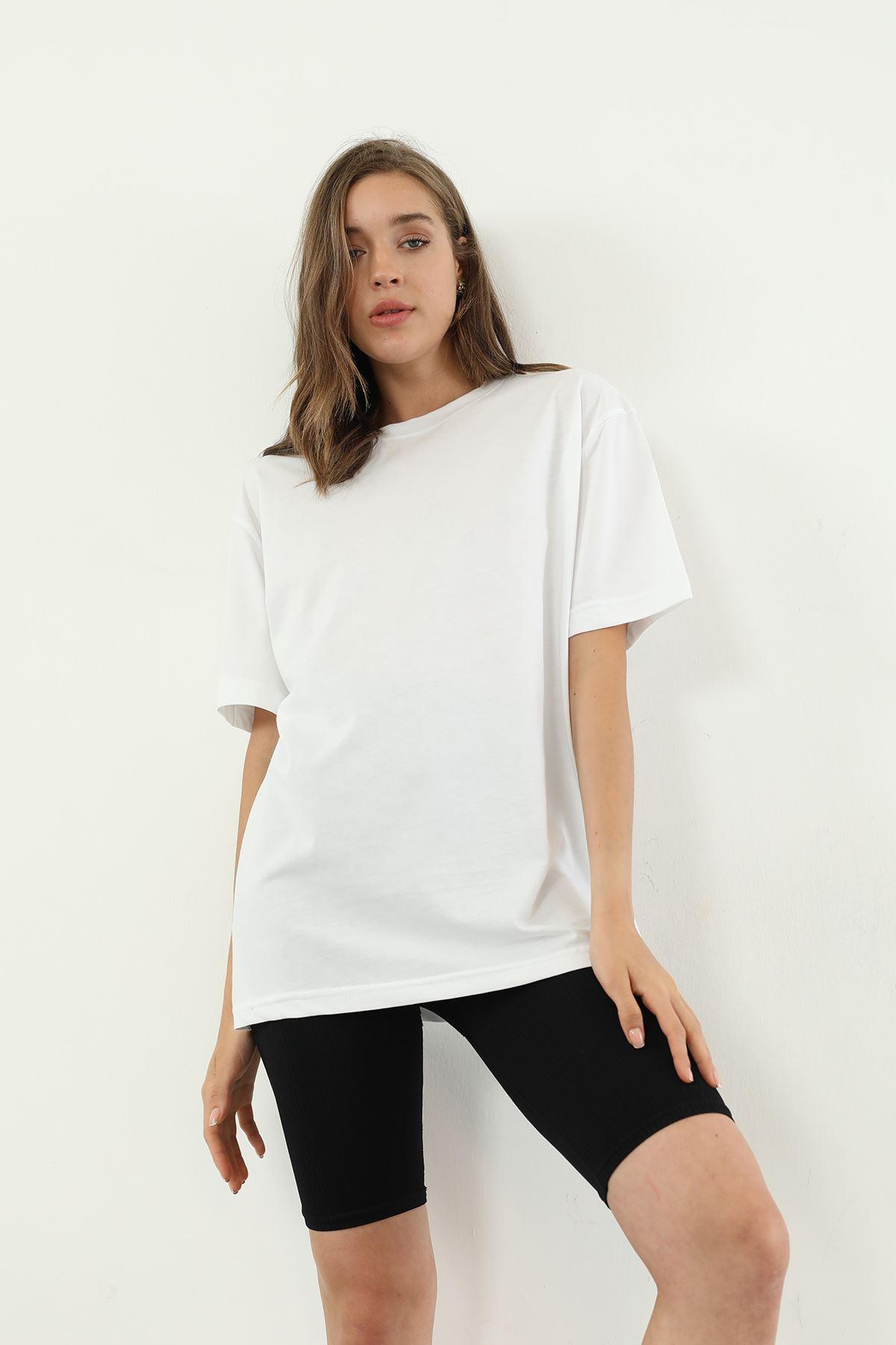 Oversize T-shirt-Beyaz