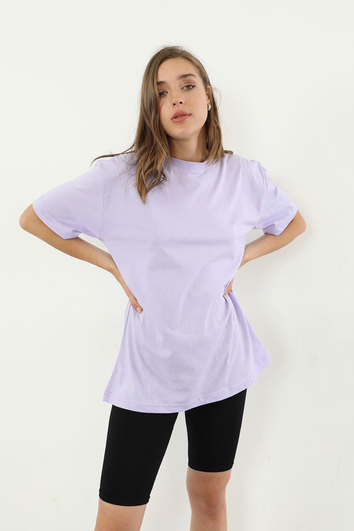 Oversize T-shirt-Lila