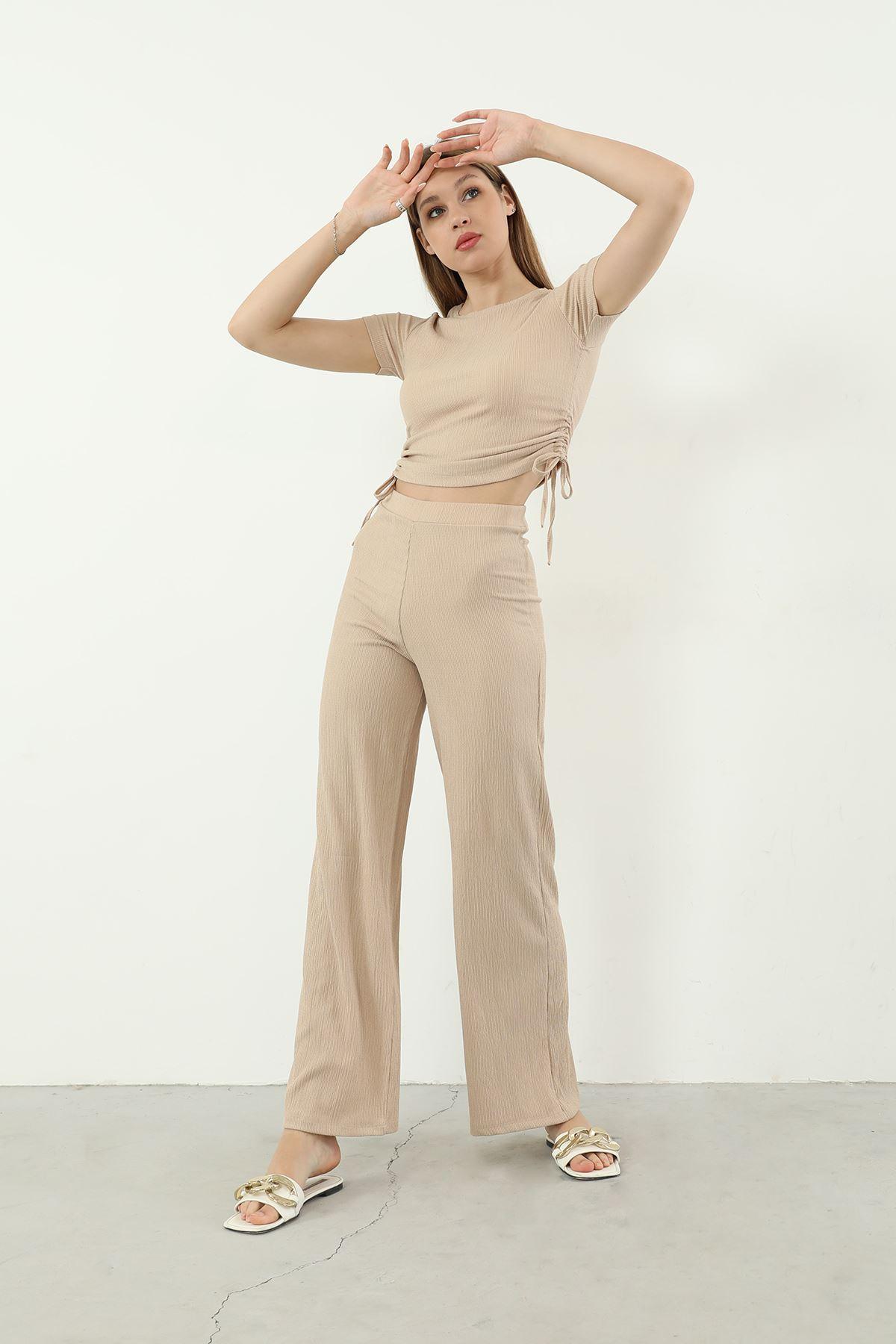 Pantolon Takım-Bej