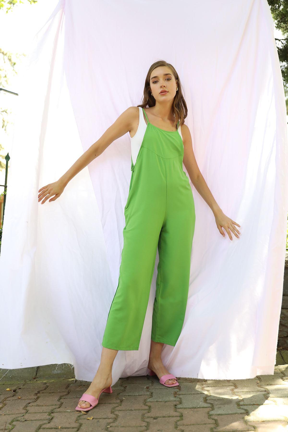 İnce Askılı Tulum-Yeşil