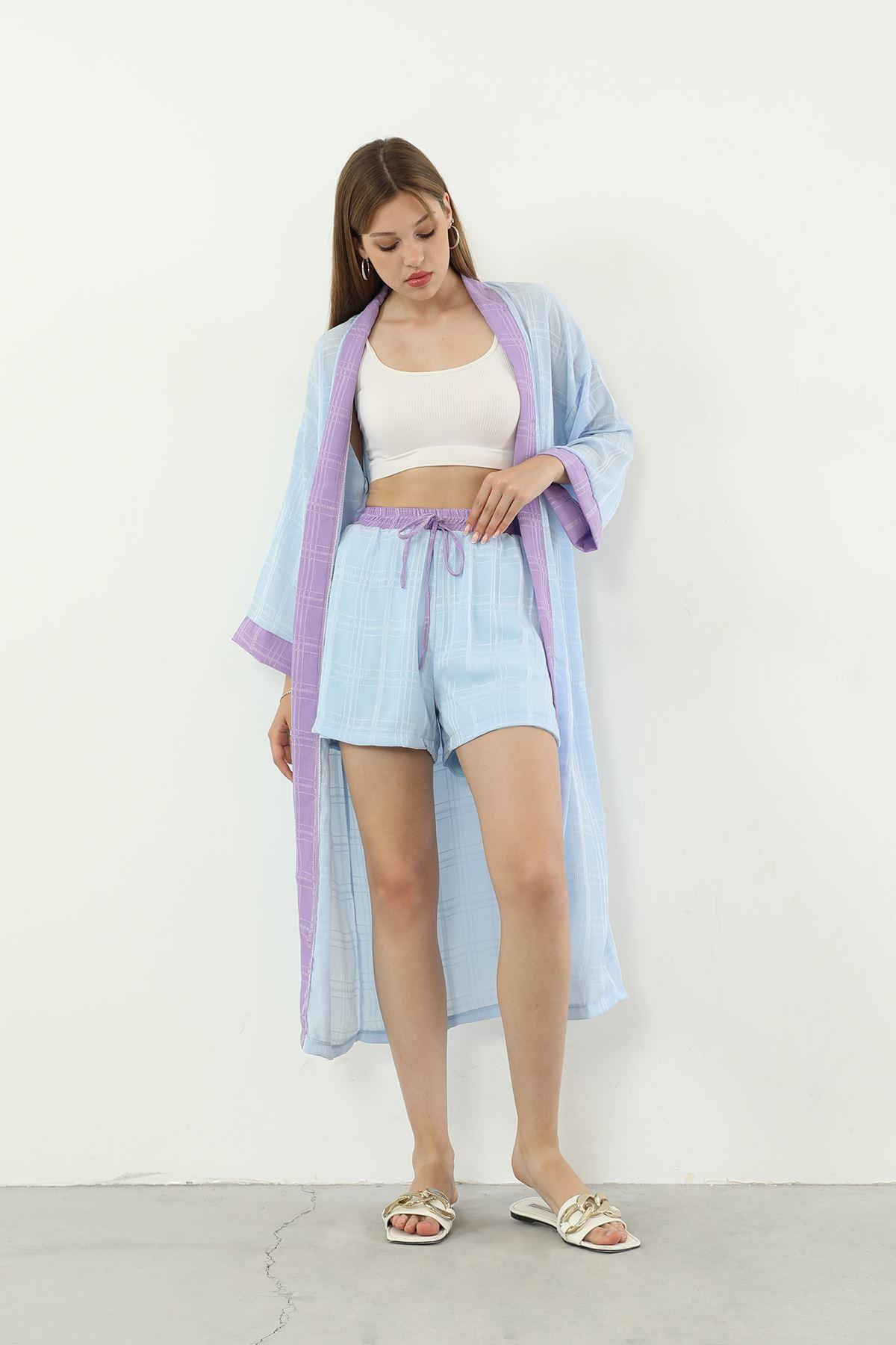 Kimono Takım-Mavi