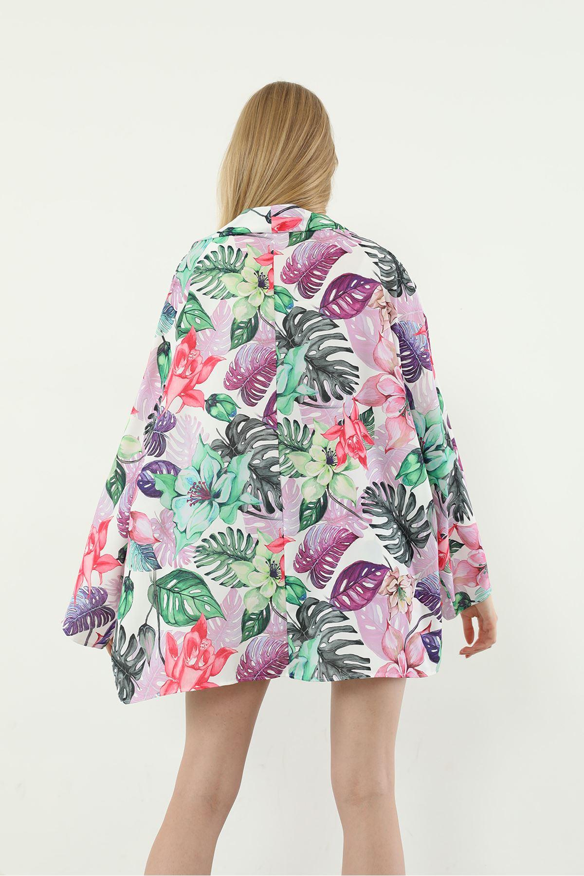 Şortlu Kimono Takım-Lila