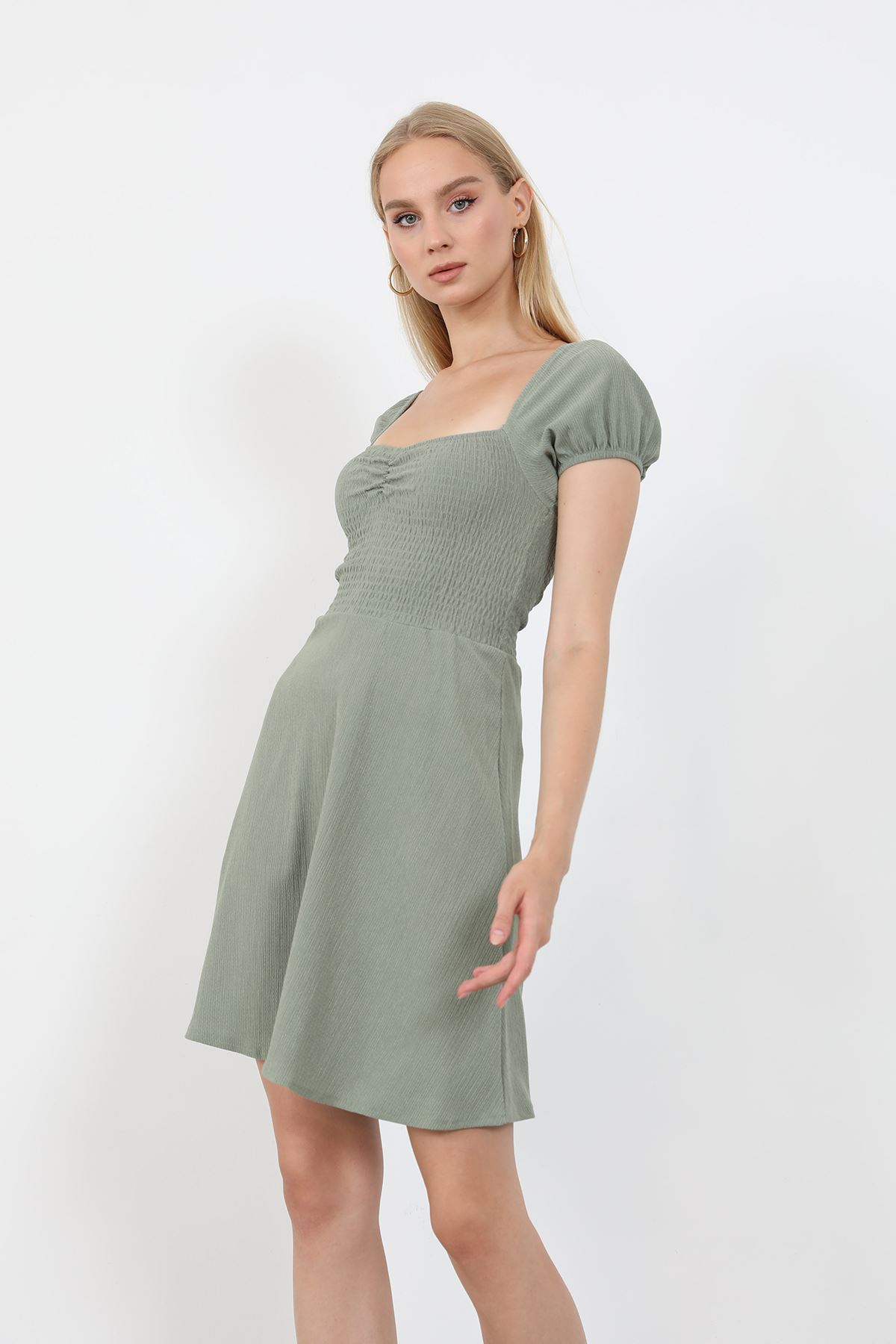 Gipeli Elbise-Haki