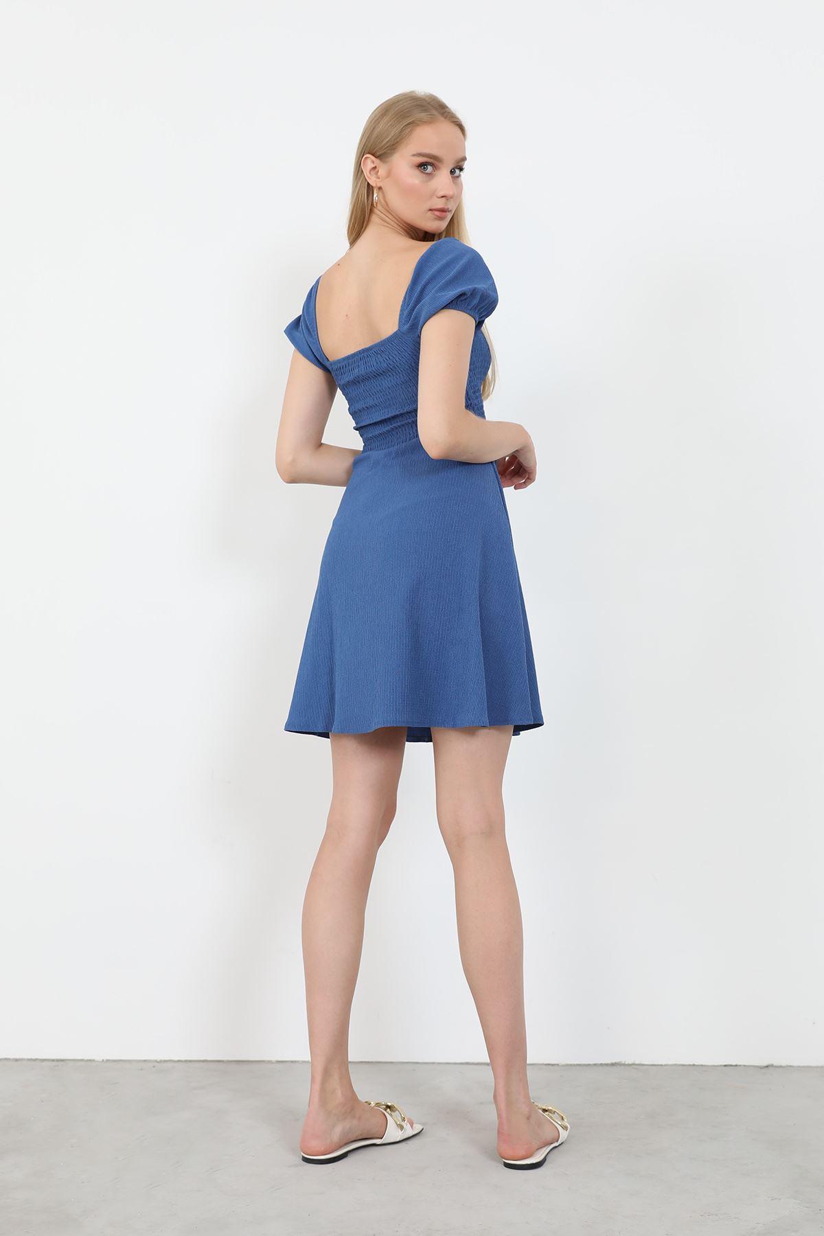 Gipeli Elbise-İndigo