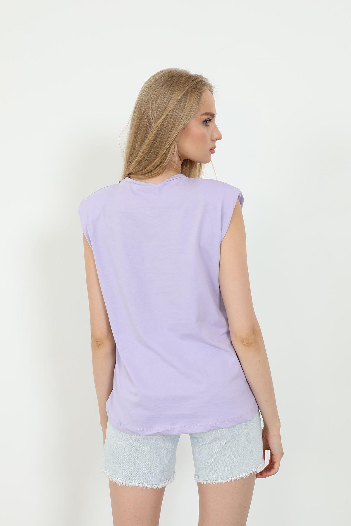 Kolyeli T-shirt-Lila