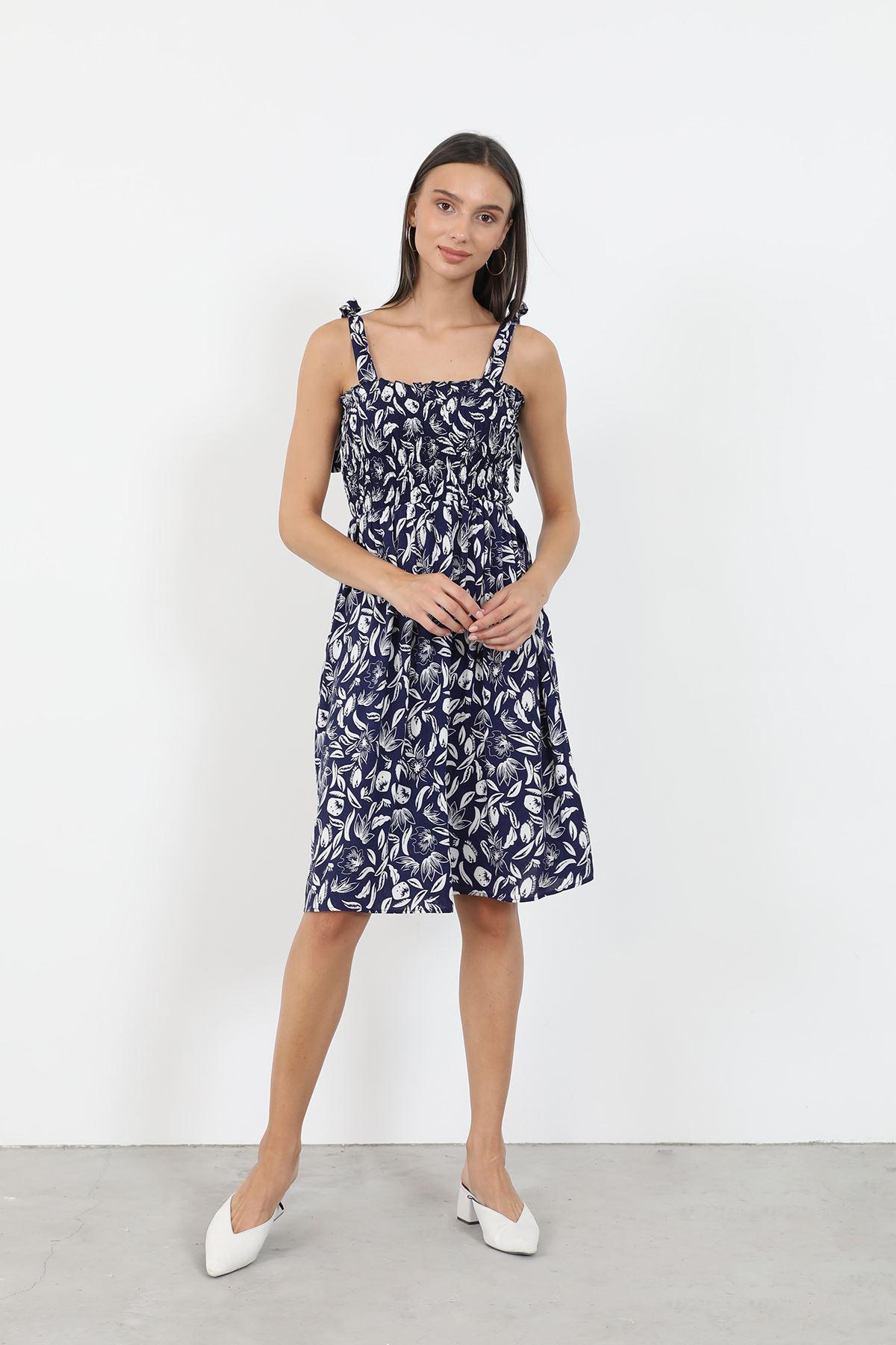Gipeli Elbise-Lacivert