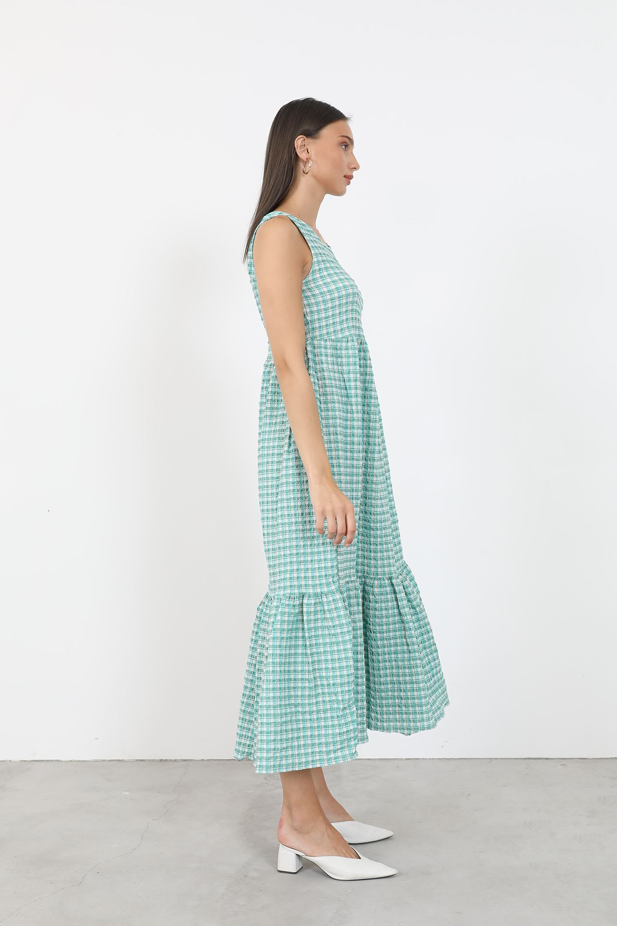 Kareli Elbise-Yeşil