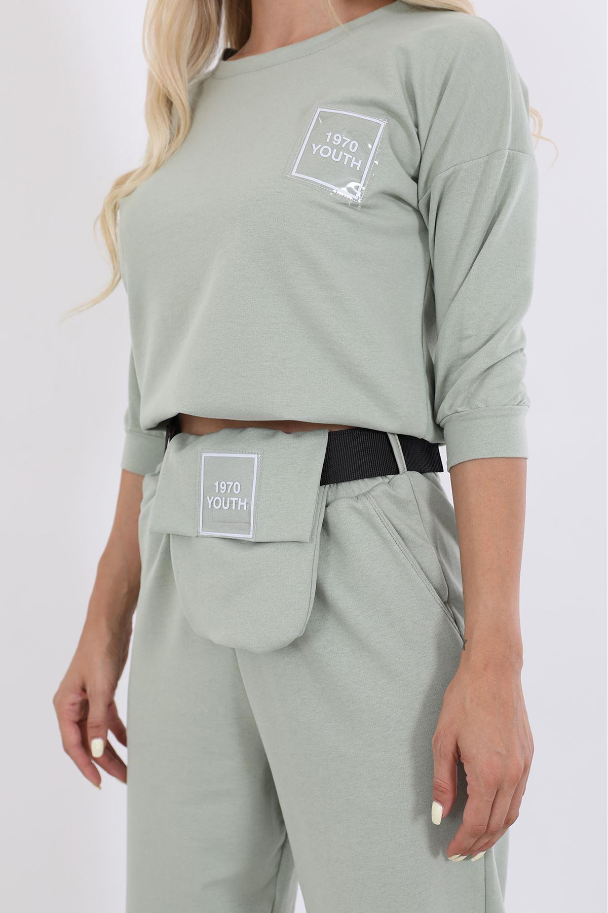 Çantalı Eşofman Takım-Mint