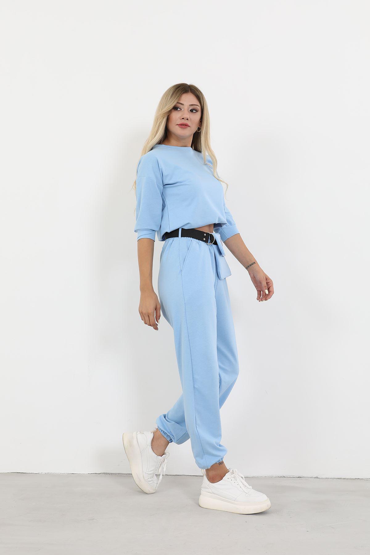 Çantalı Eşofman Takım-Mavi