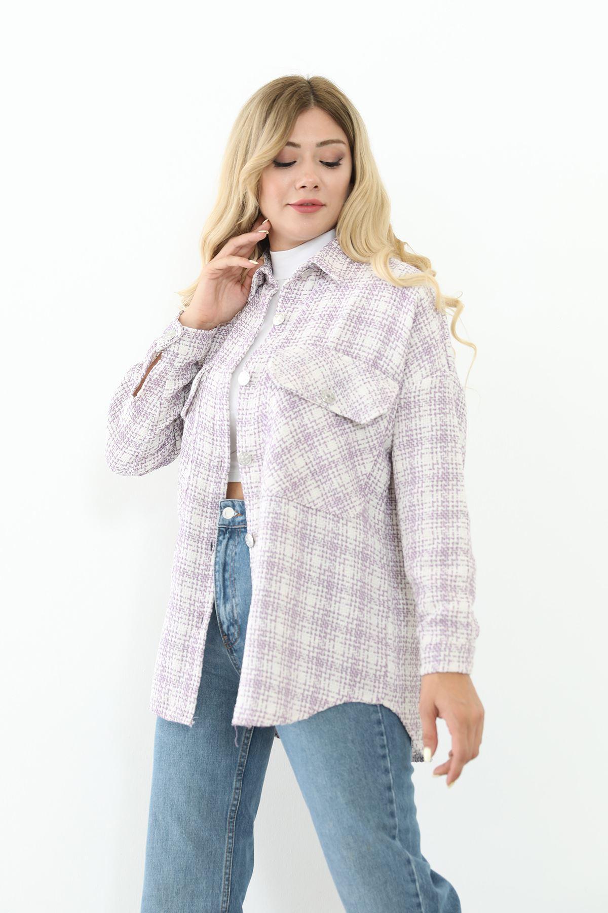 Oduncu Gömlek-Lila