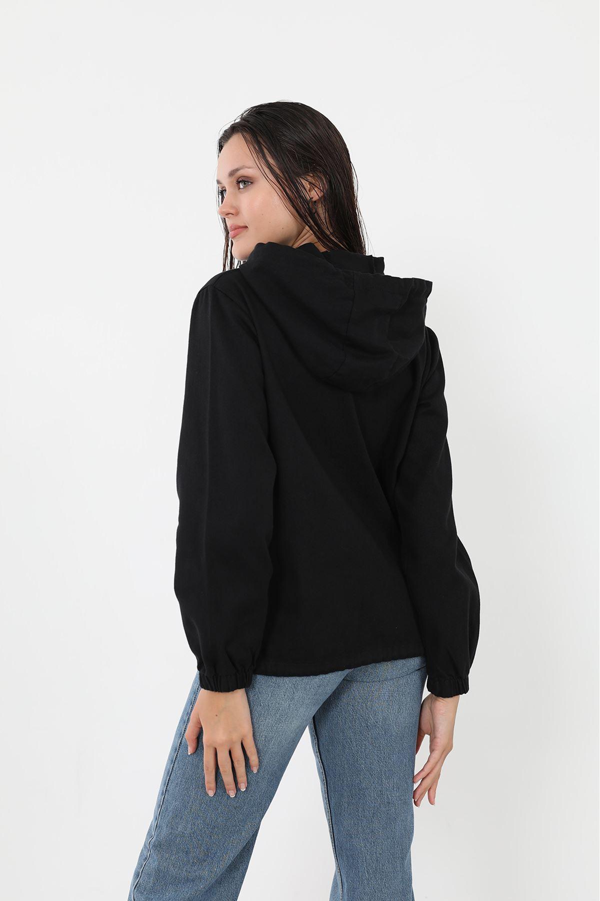 Gabardin Ceket-Siyah