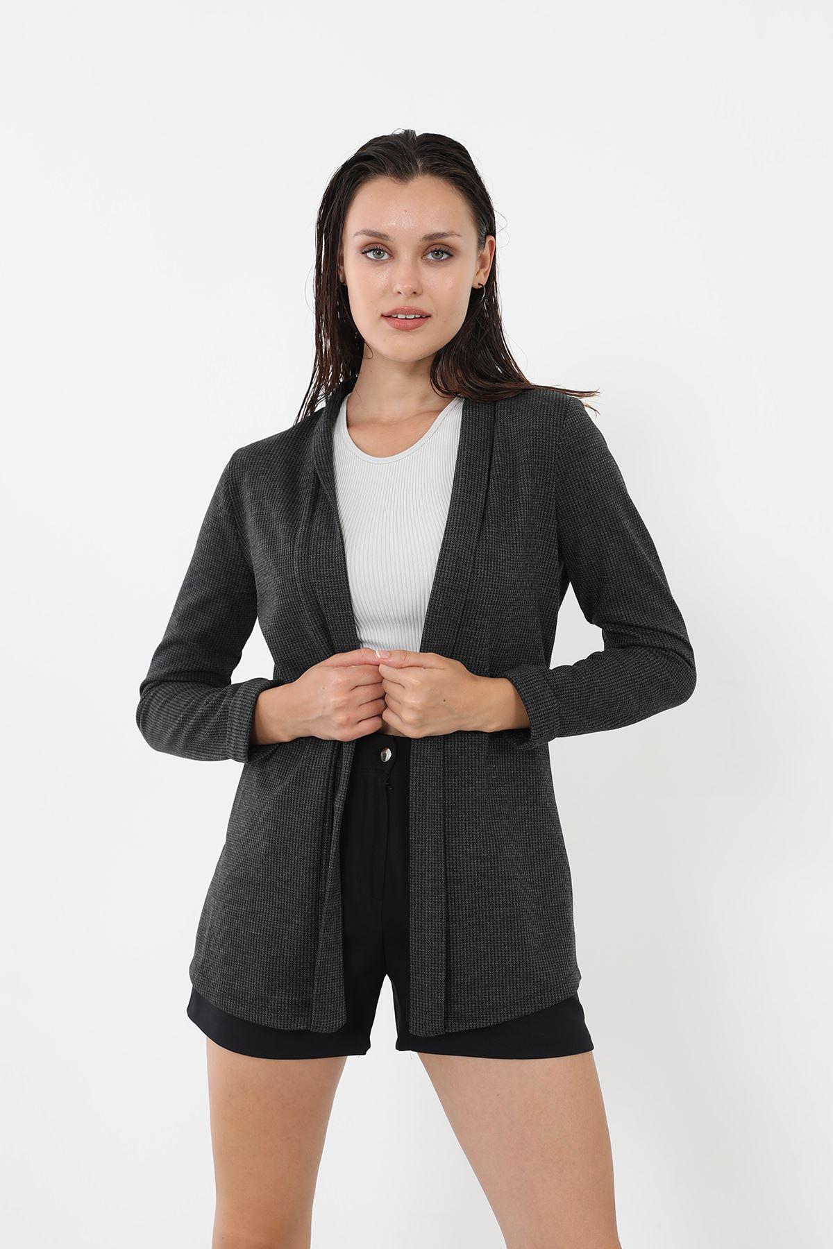 Şal Yaka Ceket-Siyah