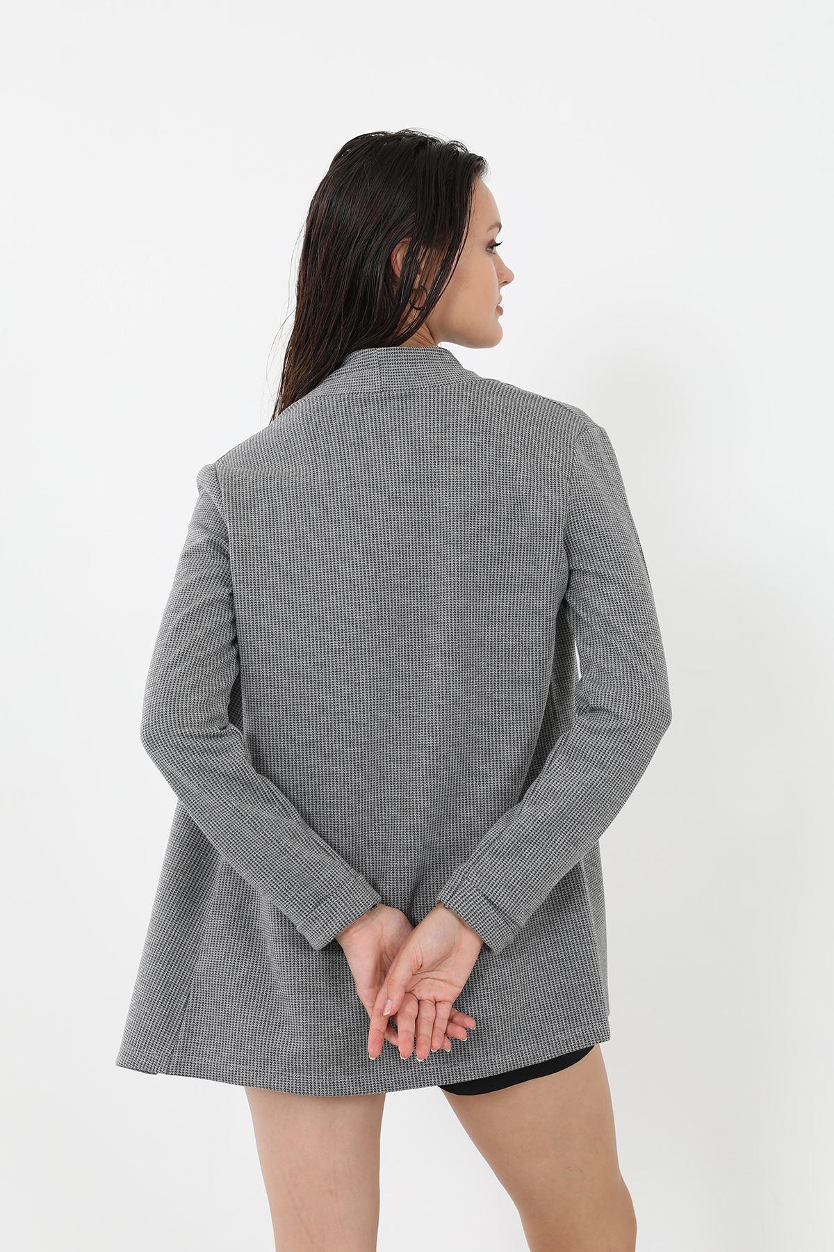 Şal Yaka Ceket-Füme
