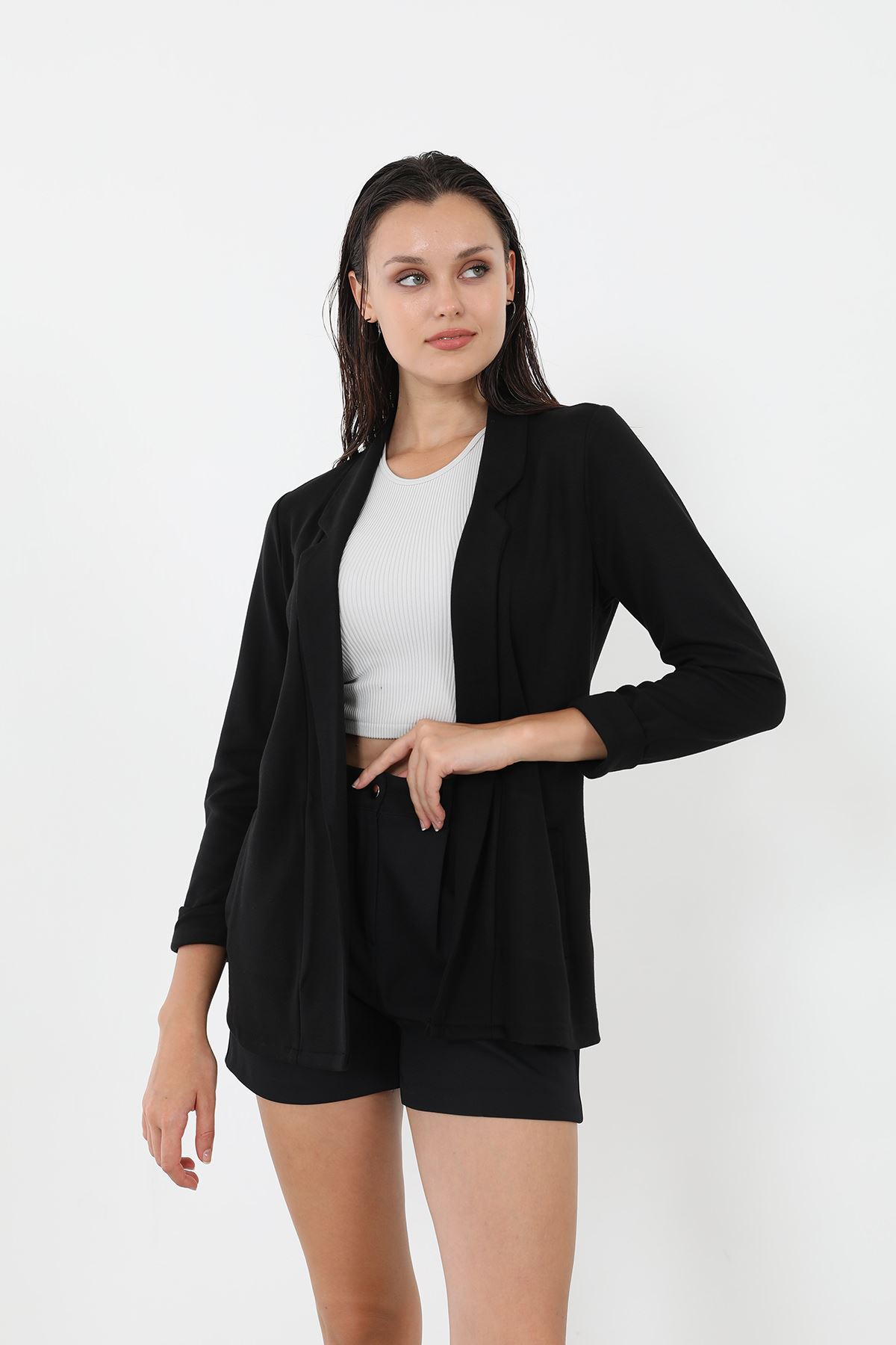 Cepli Ceket-Siyah