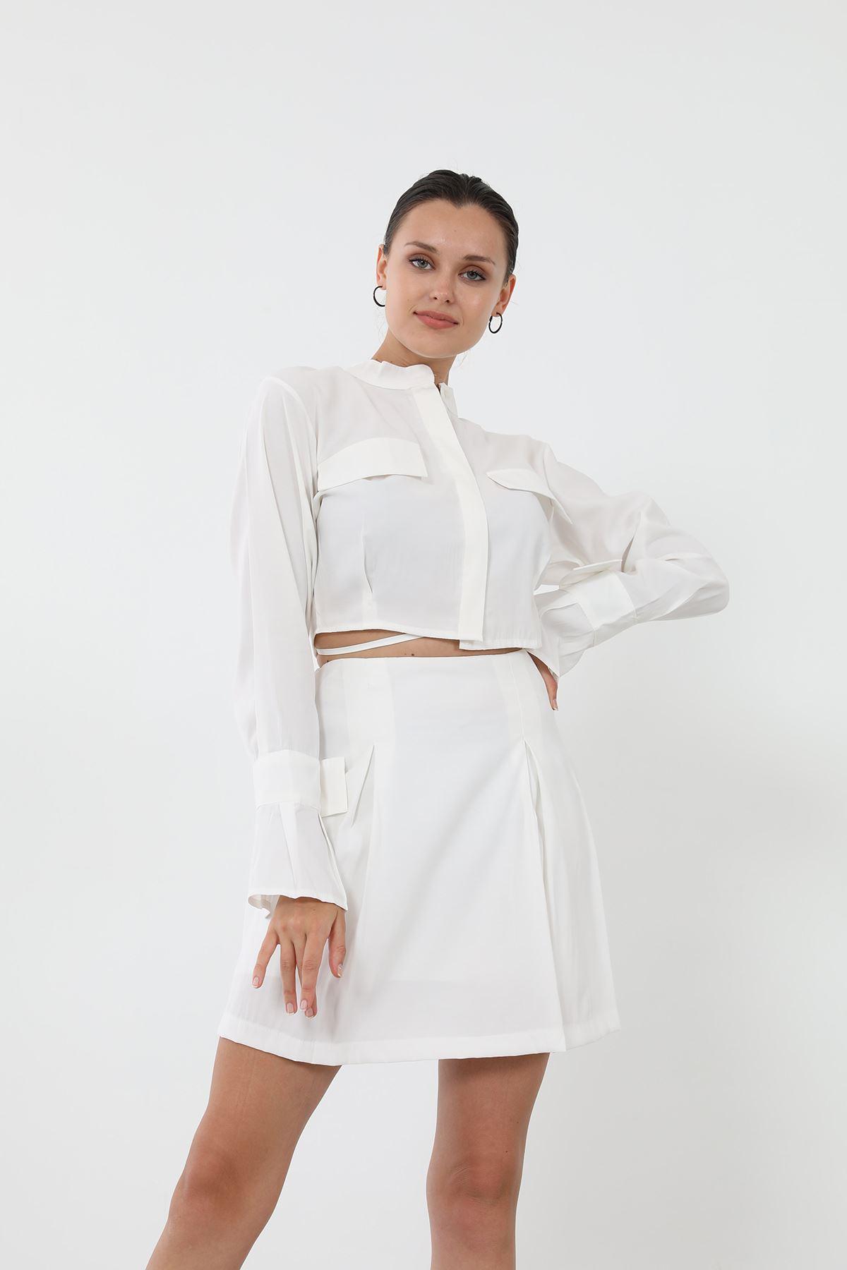 Etek Takım-Beyaz