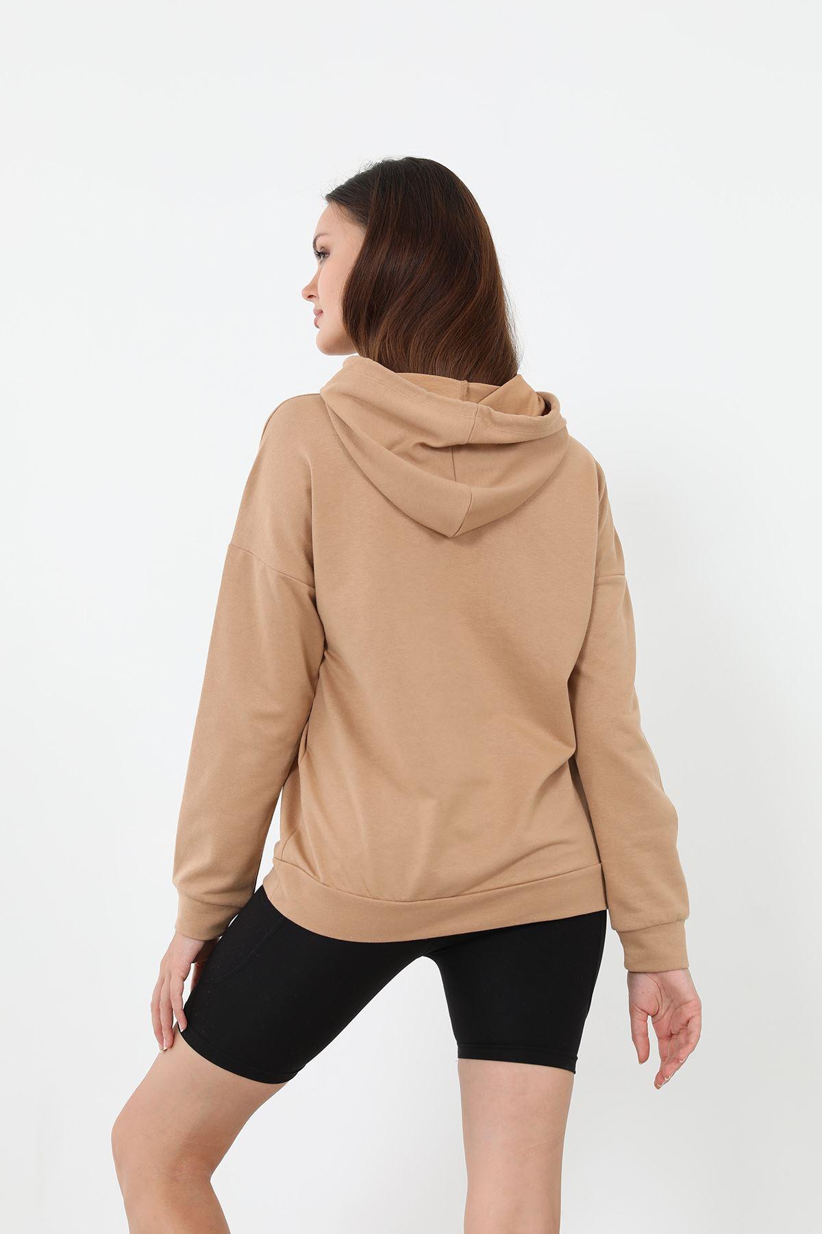 Los Angeles Sweatshirt-Camel