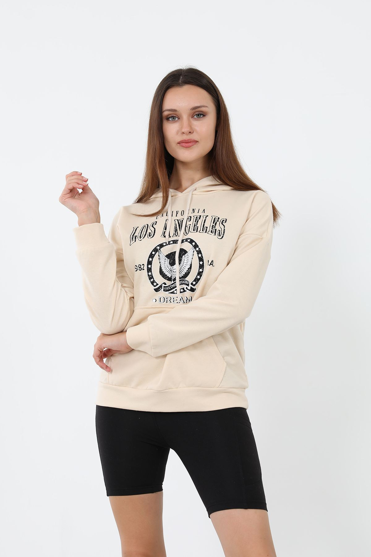 Los Angeles Sweatshirt-Bej