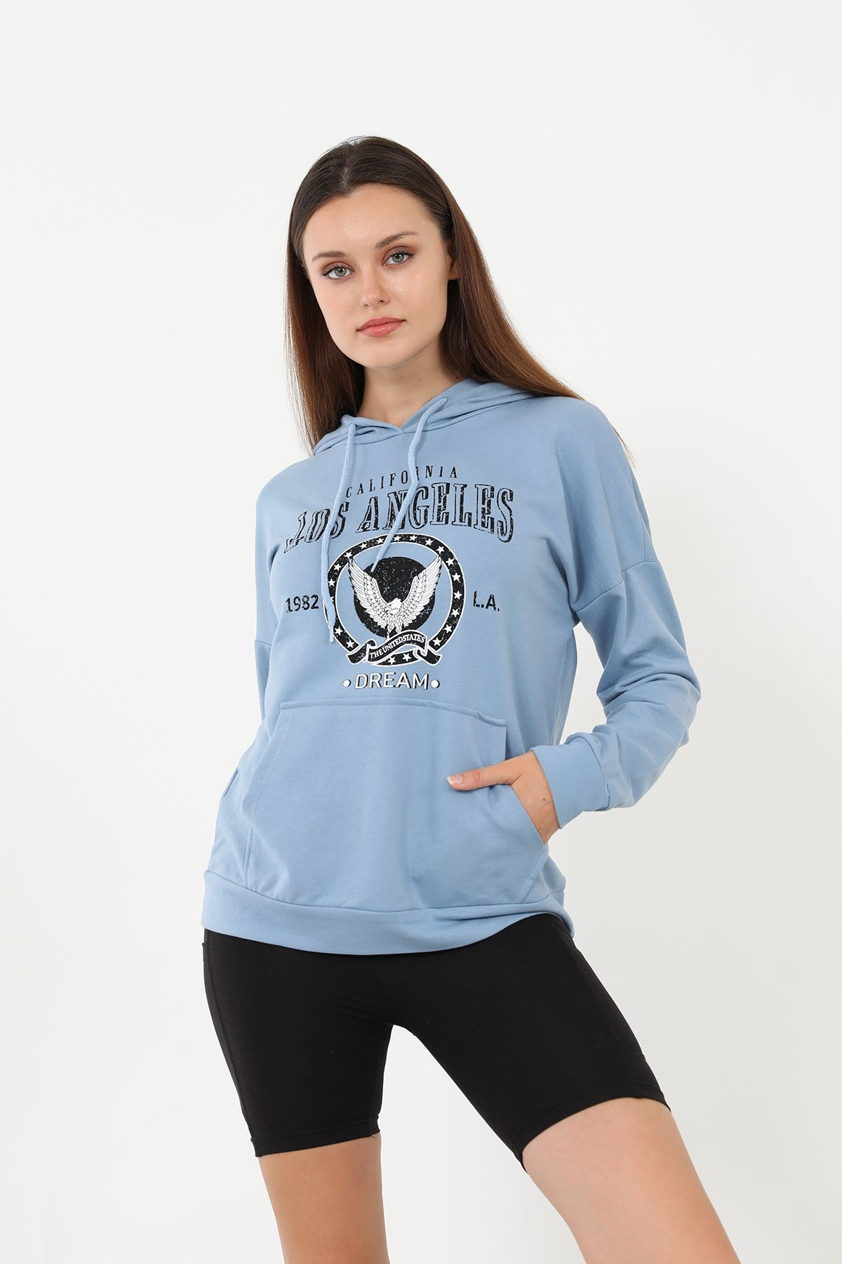 Los Angeles Sweatshirt-Mavi