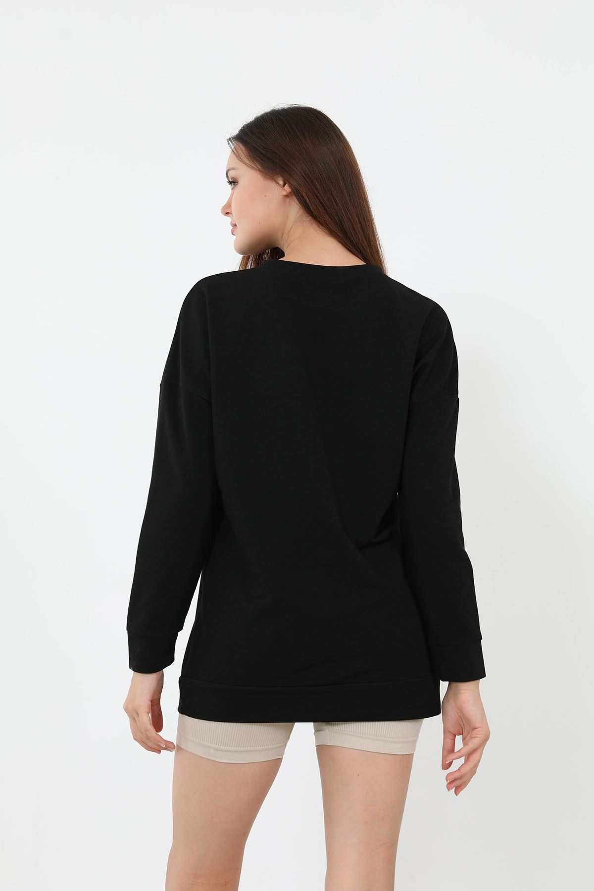 Newyork Baskılı Sweatshirt-Siyah