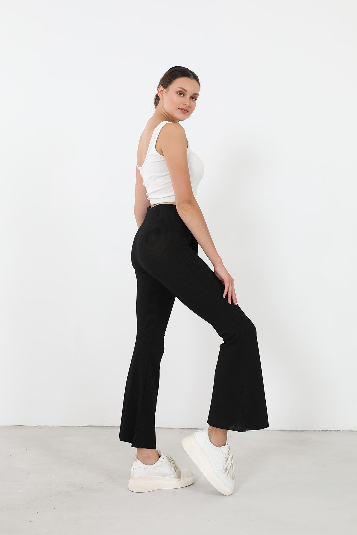 Kaşkorse Pantolon-Siyah