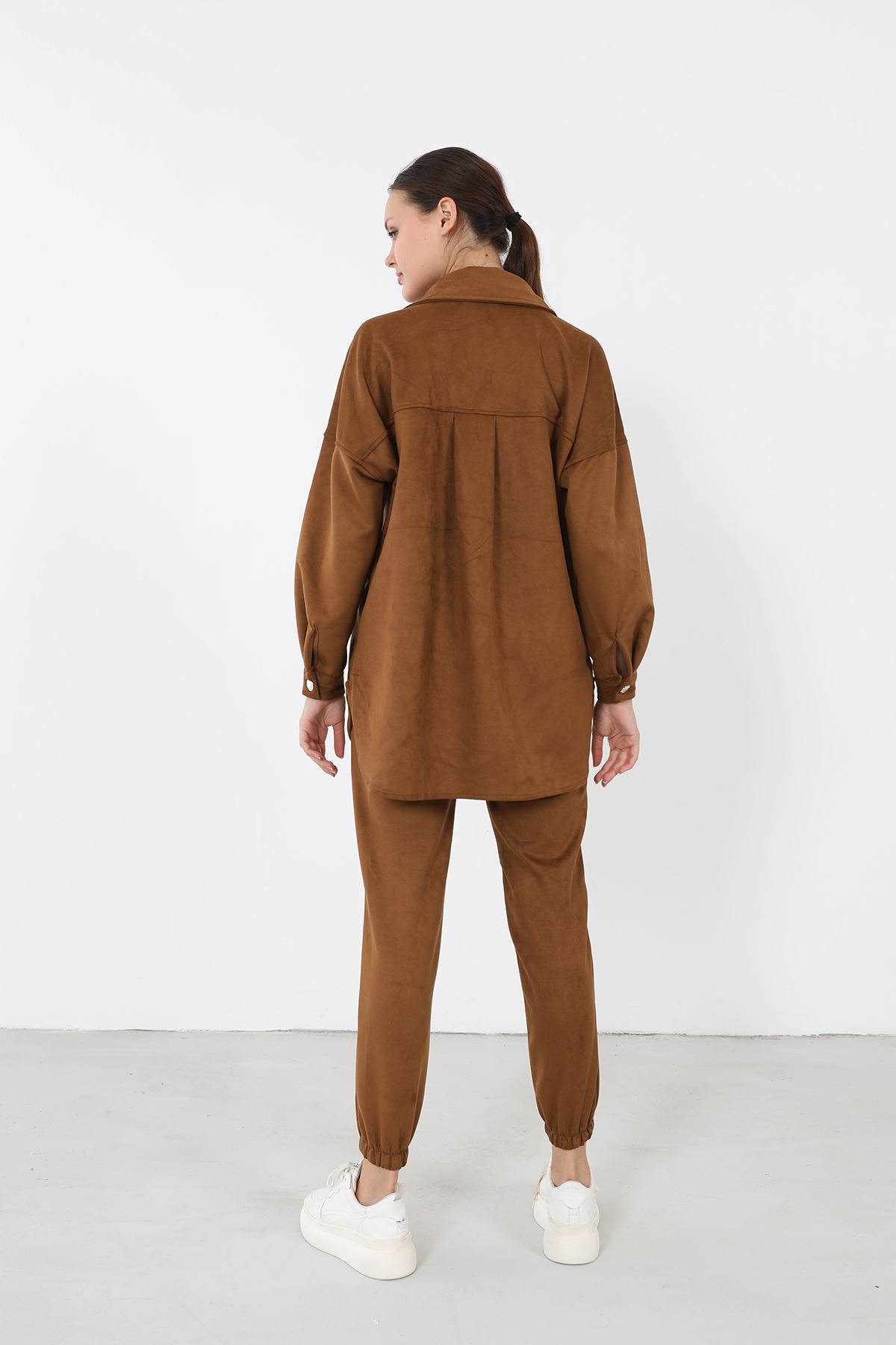 Süet Pantolon Takım-Camel