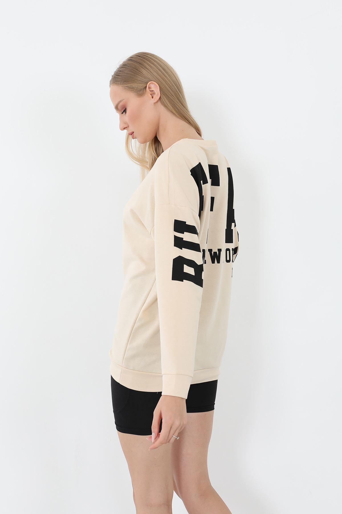 FFA Baskılı Sweatshirt-Bej