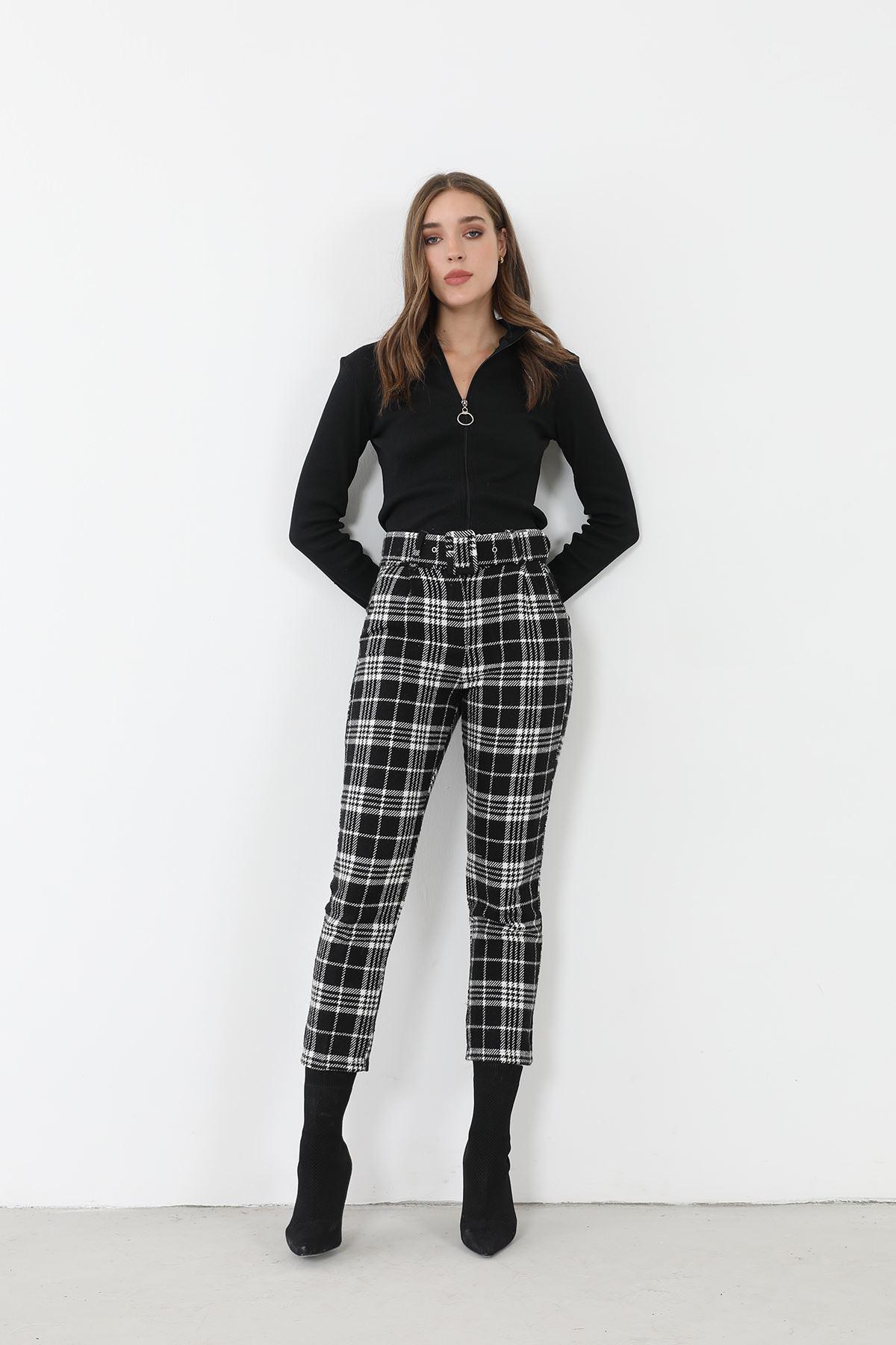 Kaşe Pantolon-Siyah