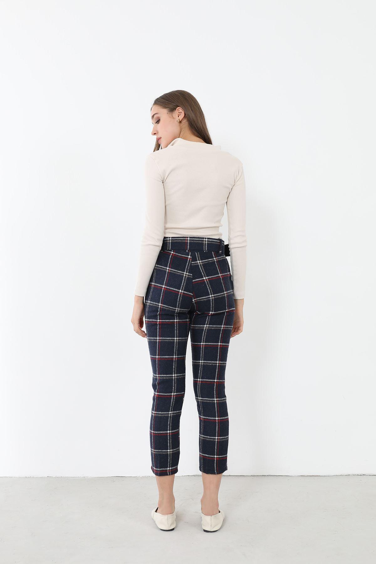 Kaşe Pantolon-Lacivert