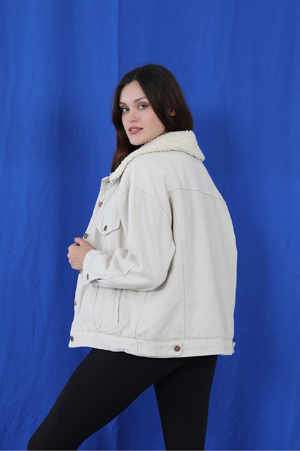 İçi Kürklü Ceket-Taş