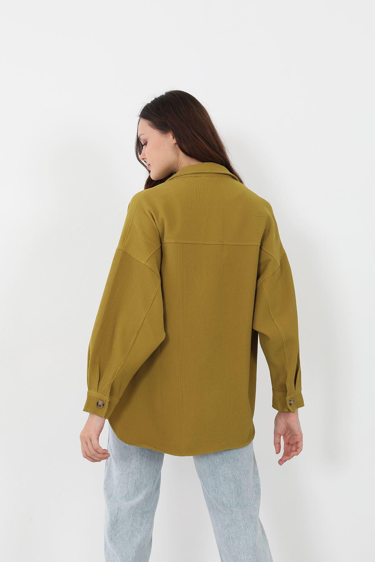 Fitilli Gömlek-YAĞ YEŞİLİ