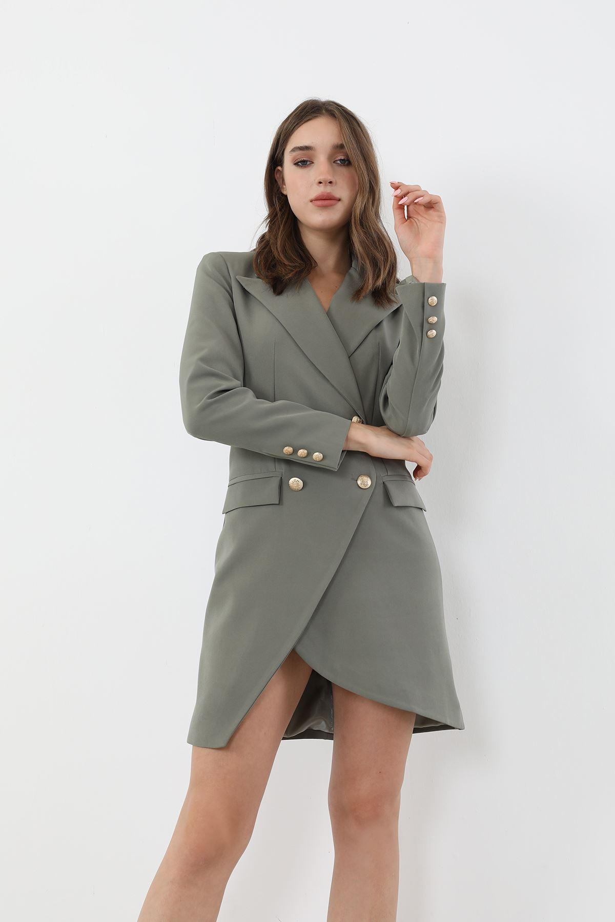 Ceket Elbise-Haki