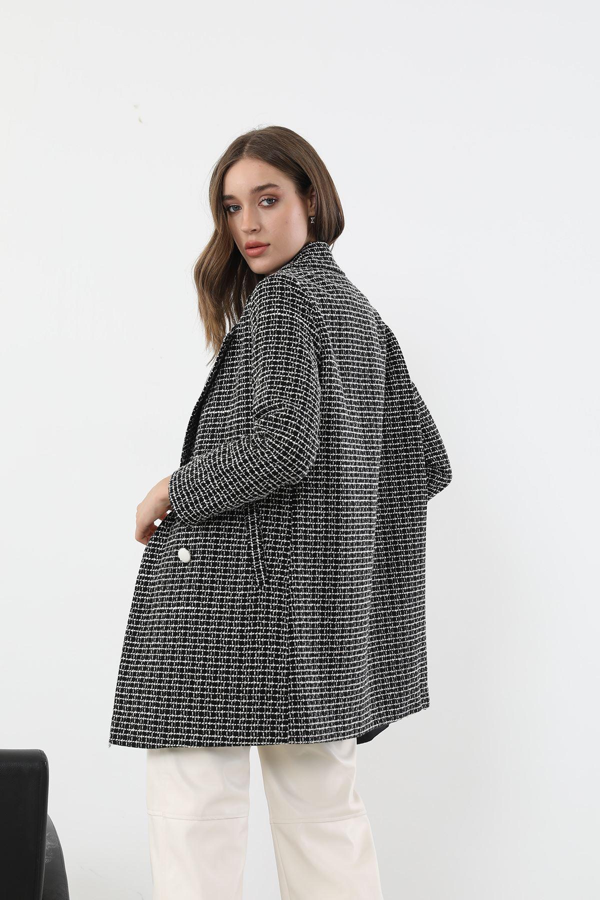 Düğmeli Ceket-Siyah