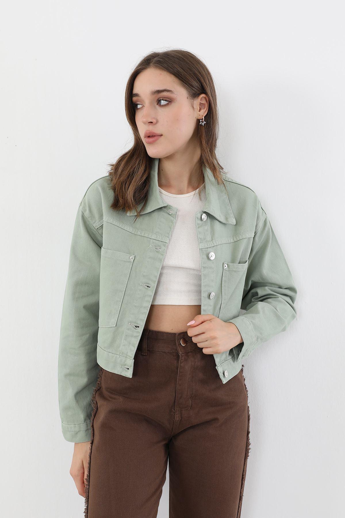 Çift Cep Ceket-Haki