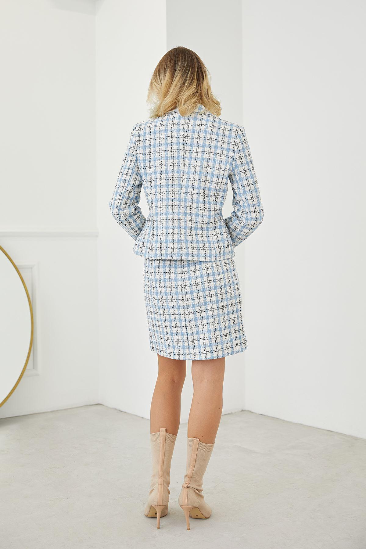 Chanel Kumaş Etek Takım-Bebemavi