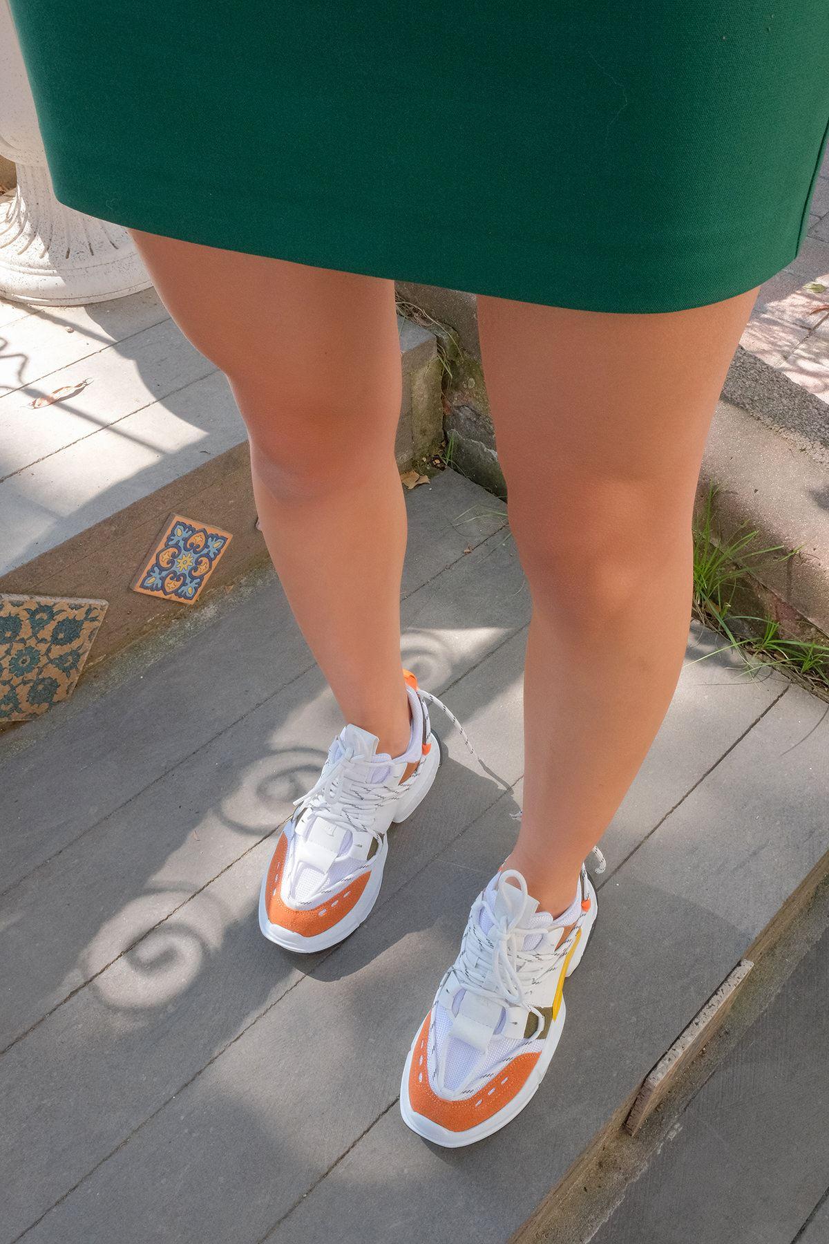 Tabanlı Spor Ayakkabı-Oranj