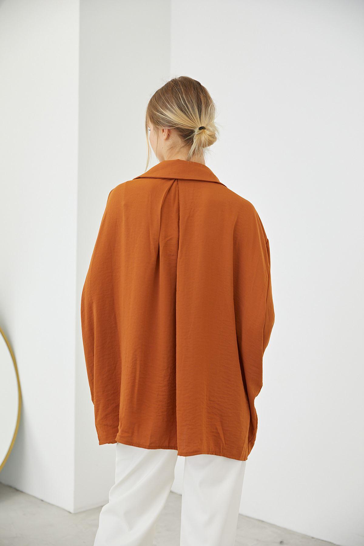 Oversize Gömlek-Kiremit