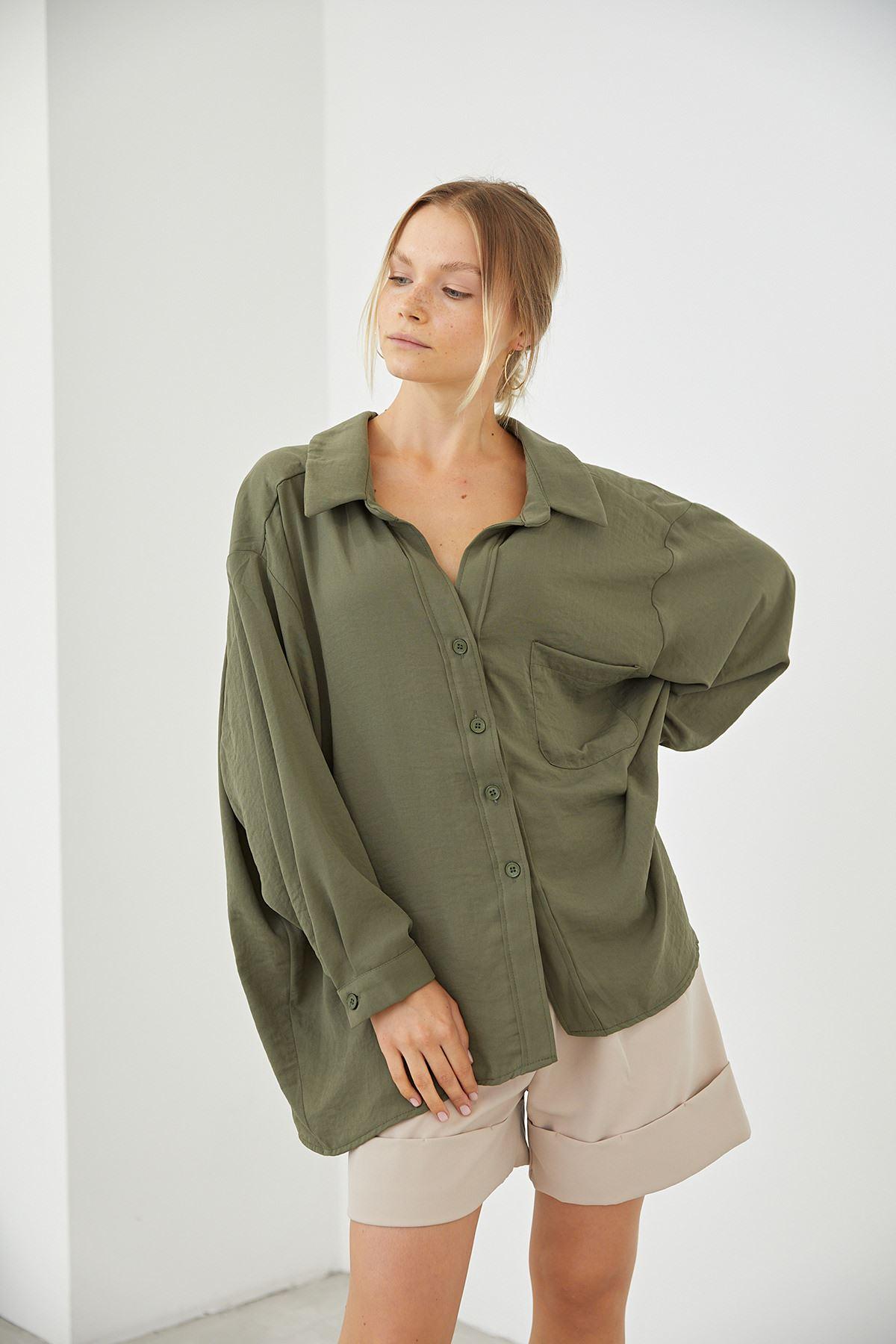 Oversize Gömlek-Haki