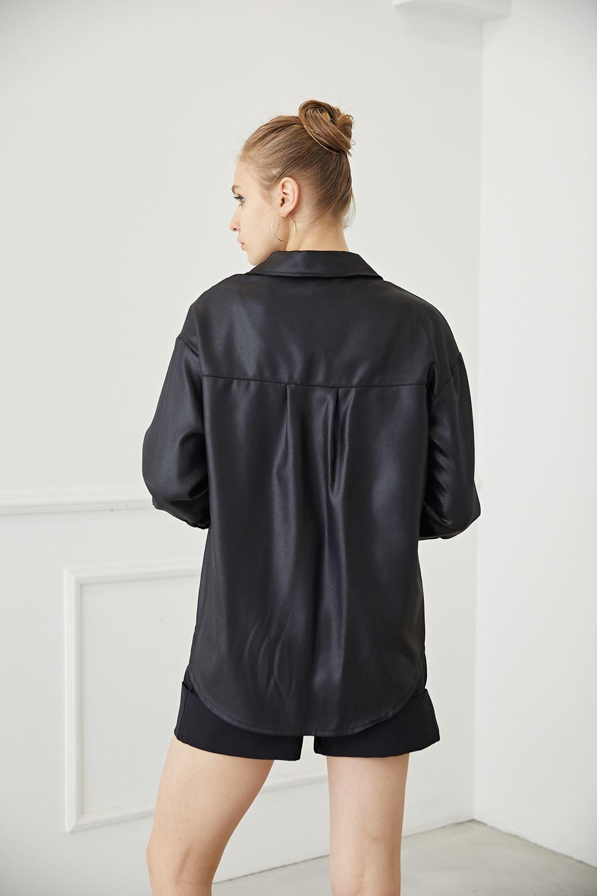 Cepli Gömlek-Siyah